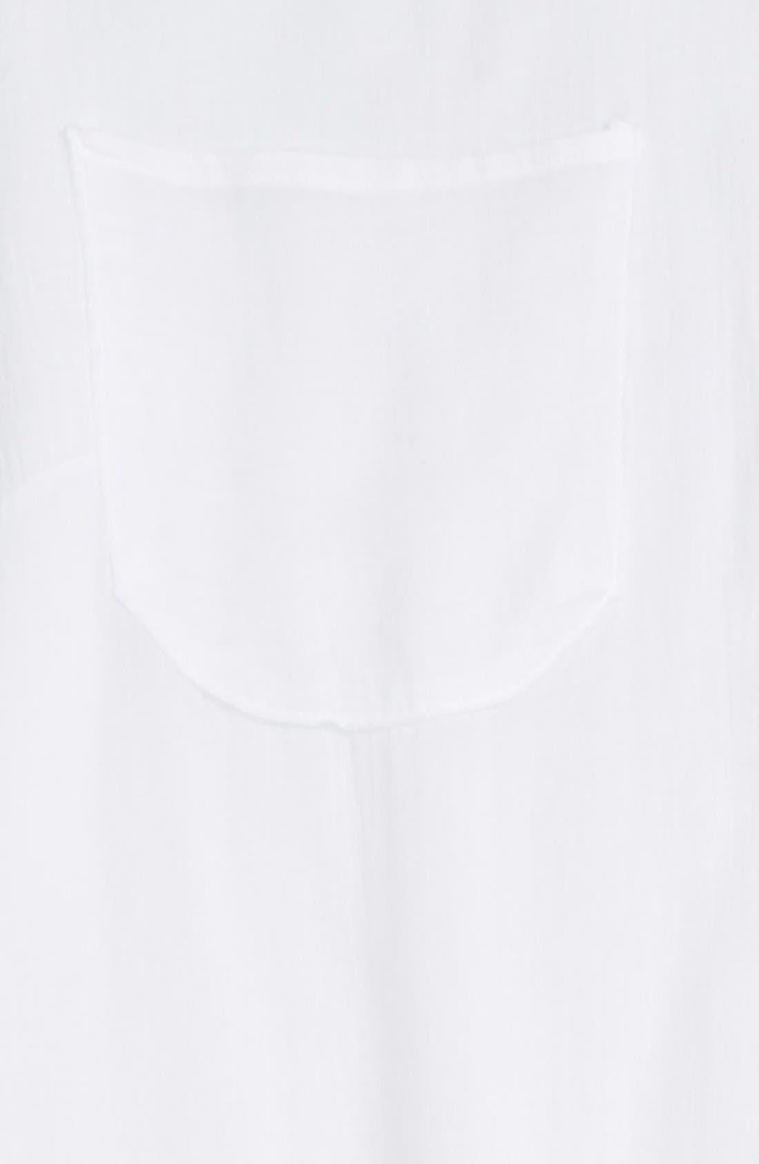 Alternate Image 3  - Topshop Lattice Side Cover-Up Shirt