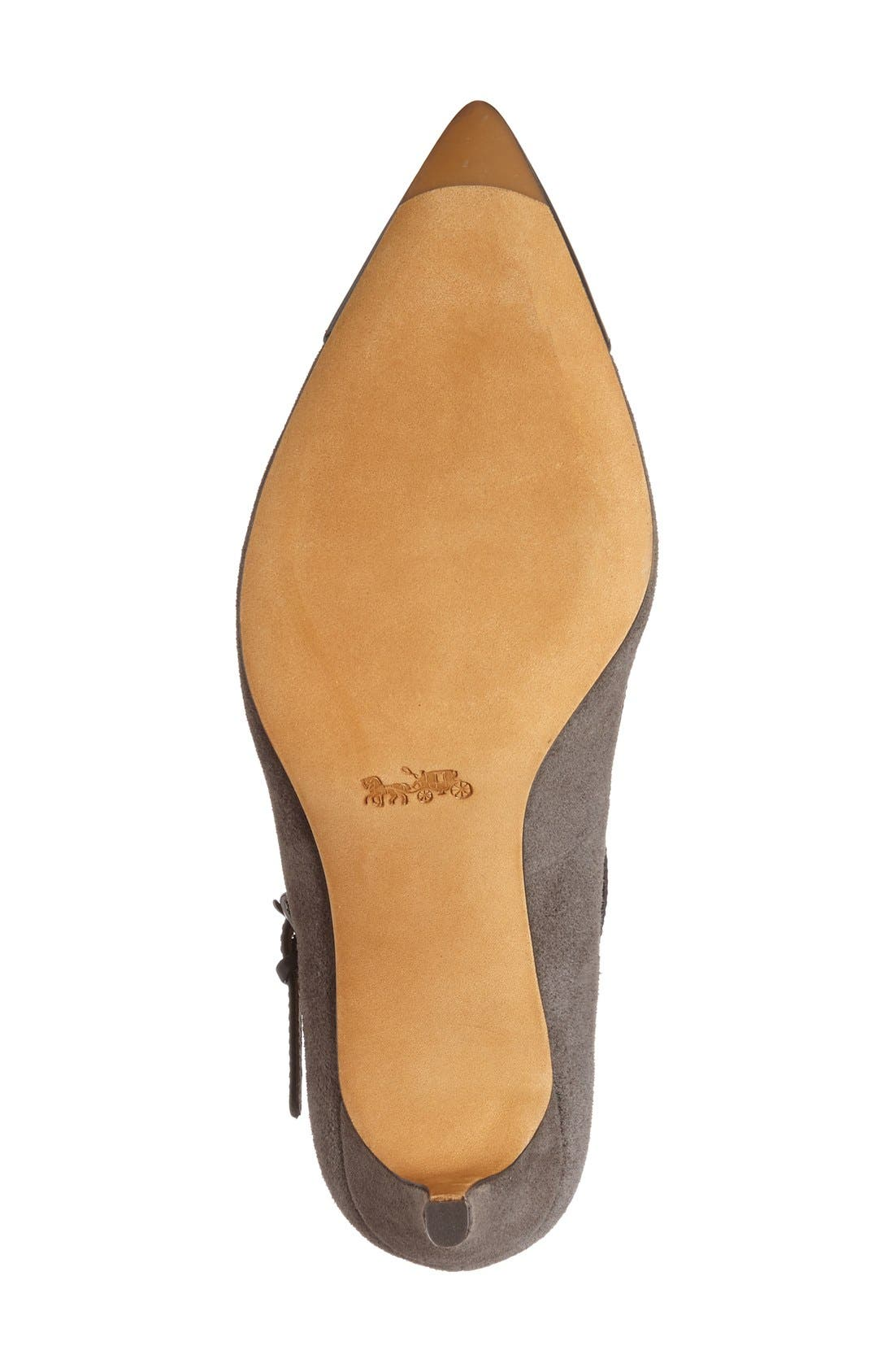 'Smith' Mary Jane Pump,                             Alternate thumbnail 4, color,                             Mink/ Black Suede