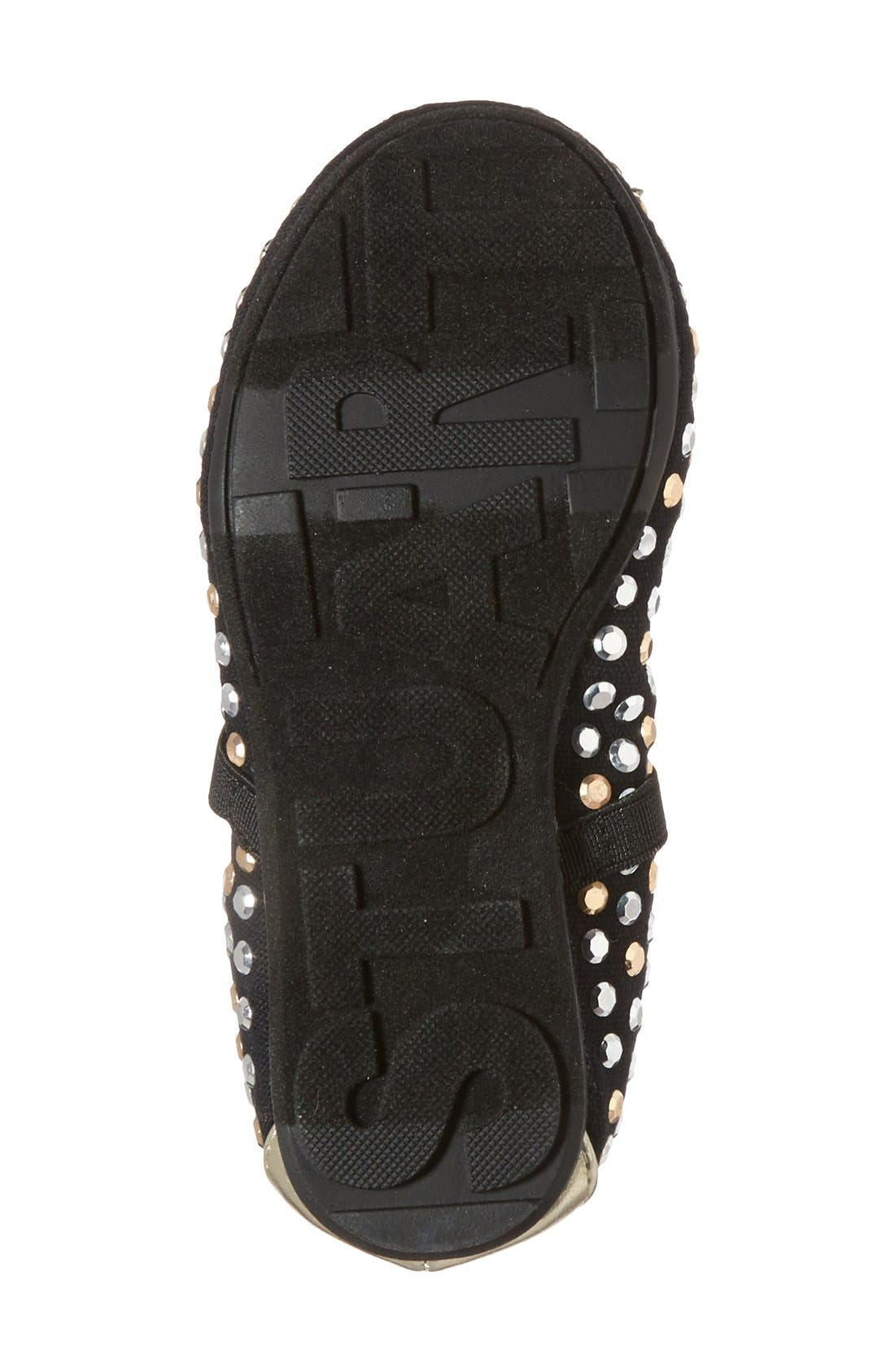 Alternate Image 4  - Stuart Weitzman 'Fannie Tara' Studded Flat (Toddler)