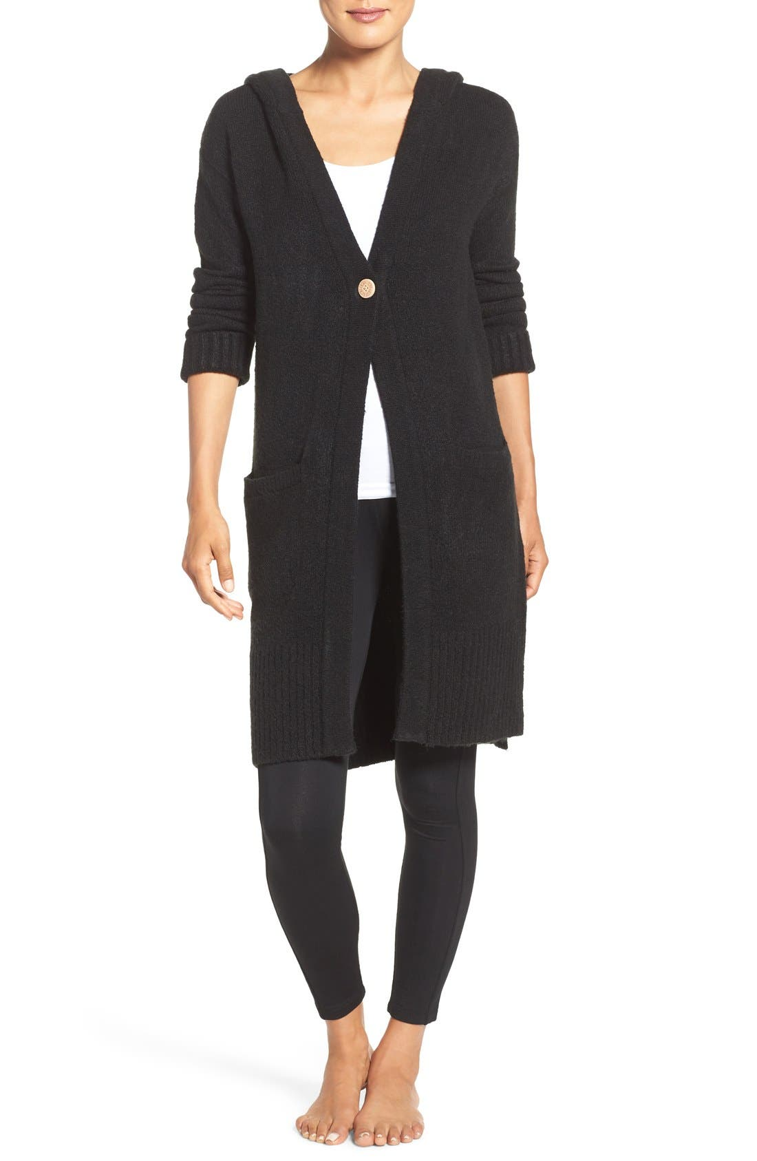 Alternate Image 1 Selected - UGG® 'Judith' Hooded Knit Cardigan