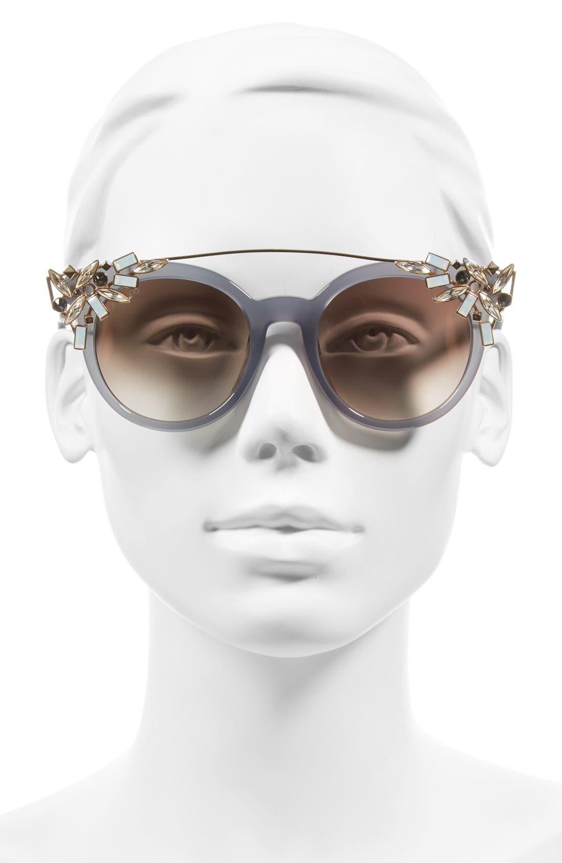 'Vivy' 51mm Sunglasses,                             Alternate thumbnail 2, color,                             Gray Opal