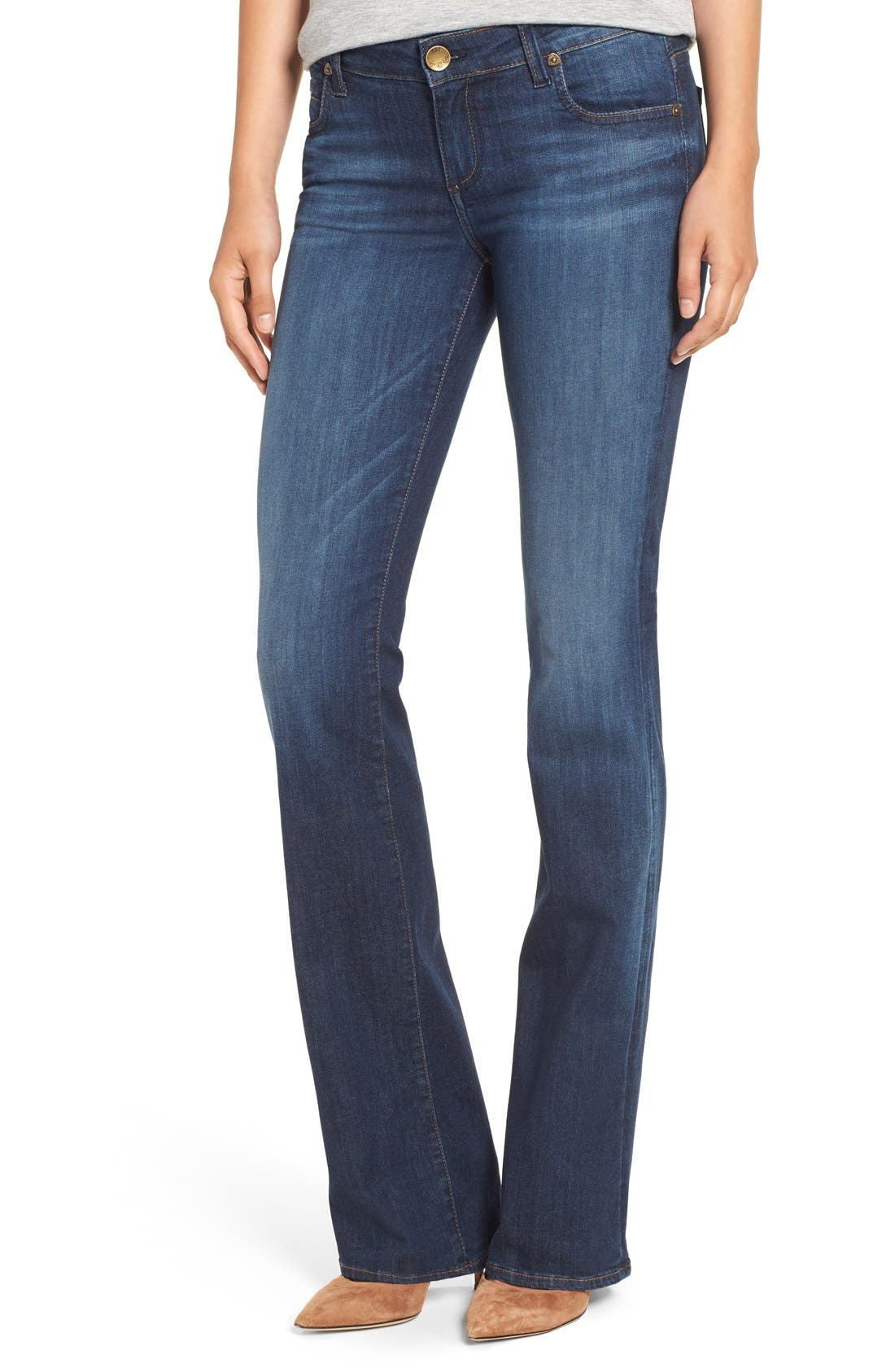 Alternate Image 1 Selected - KUT from the Kloth 'Natalie' Stretch Bootcut Jeans (Adaptive) (Regular & Petite)