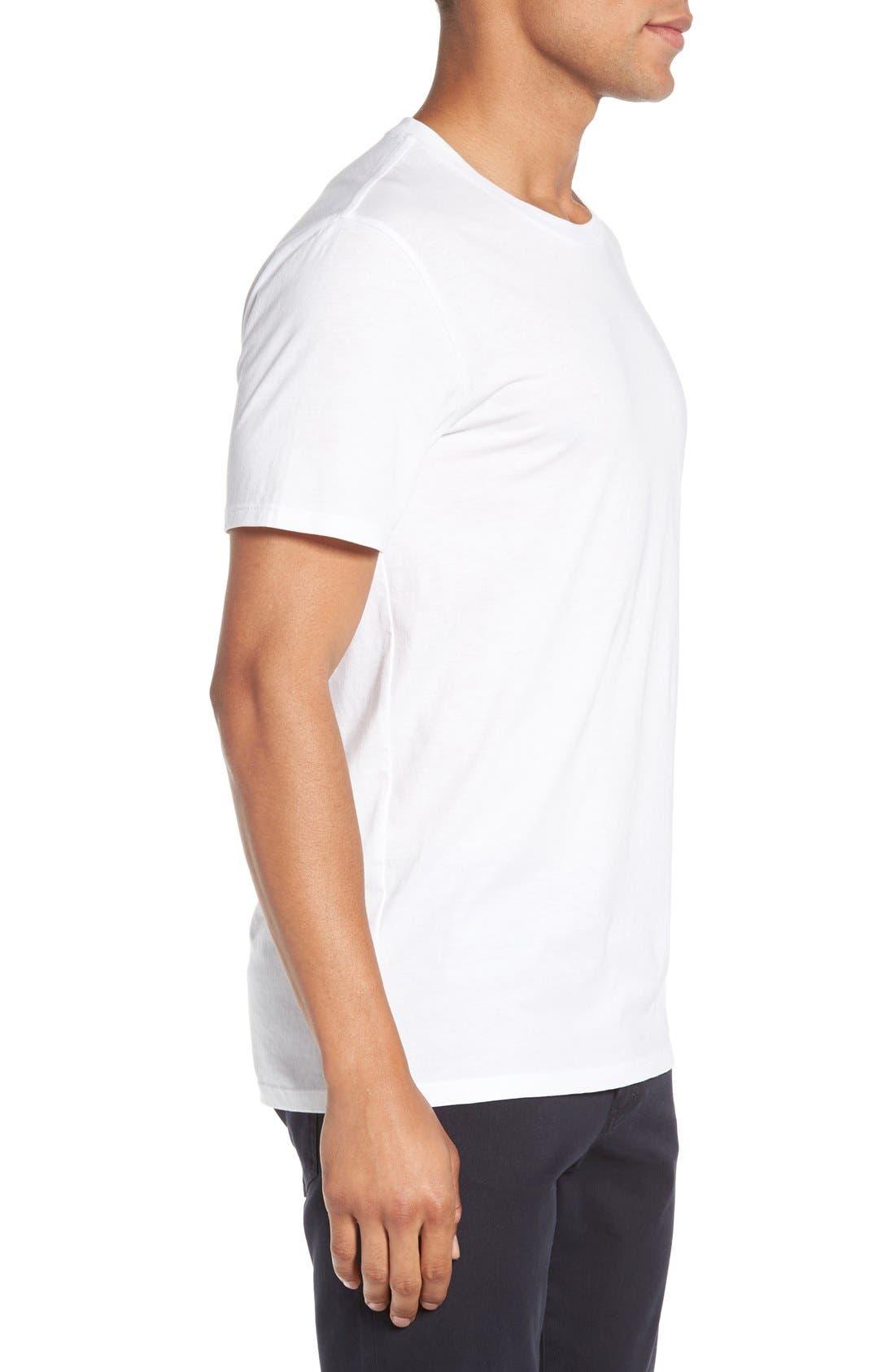 Crewneck T-Shirt,                             Alternate thumbnail 3, color,                             Optic White
