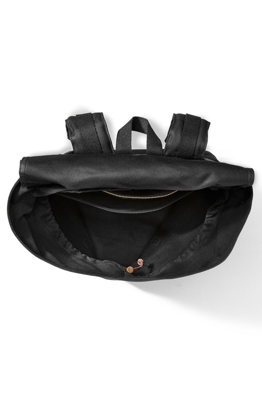 'Ranger' Canvas Backpack,                             Alternate thumbnail 3, color,                             Black