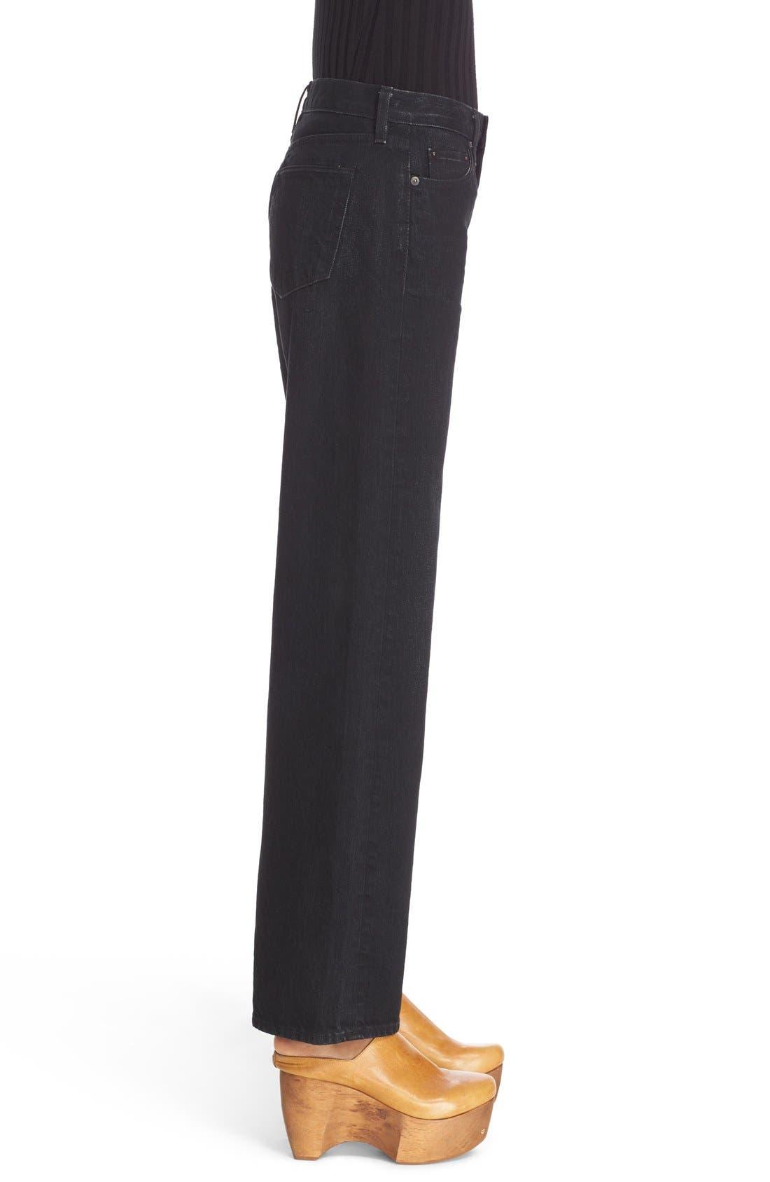 Alternate Image 5  - Simon Miller Wide Leg Jeans (Black)