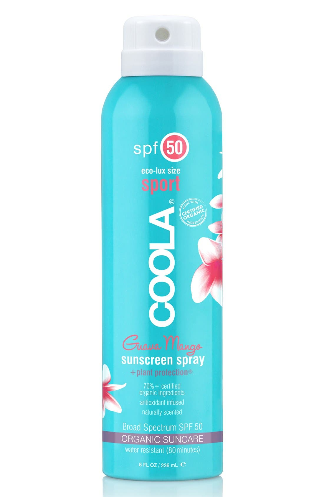 COOLA® Suncare Guava Mango Eco-Lux Sport Sunscreen Spray SPF 50