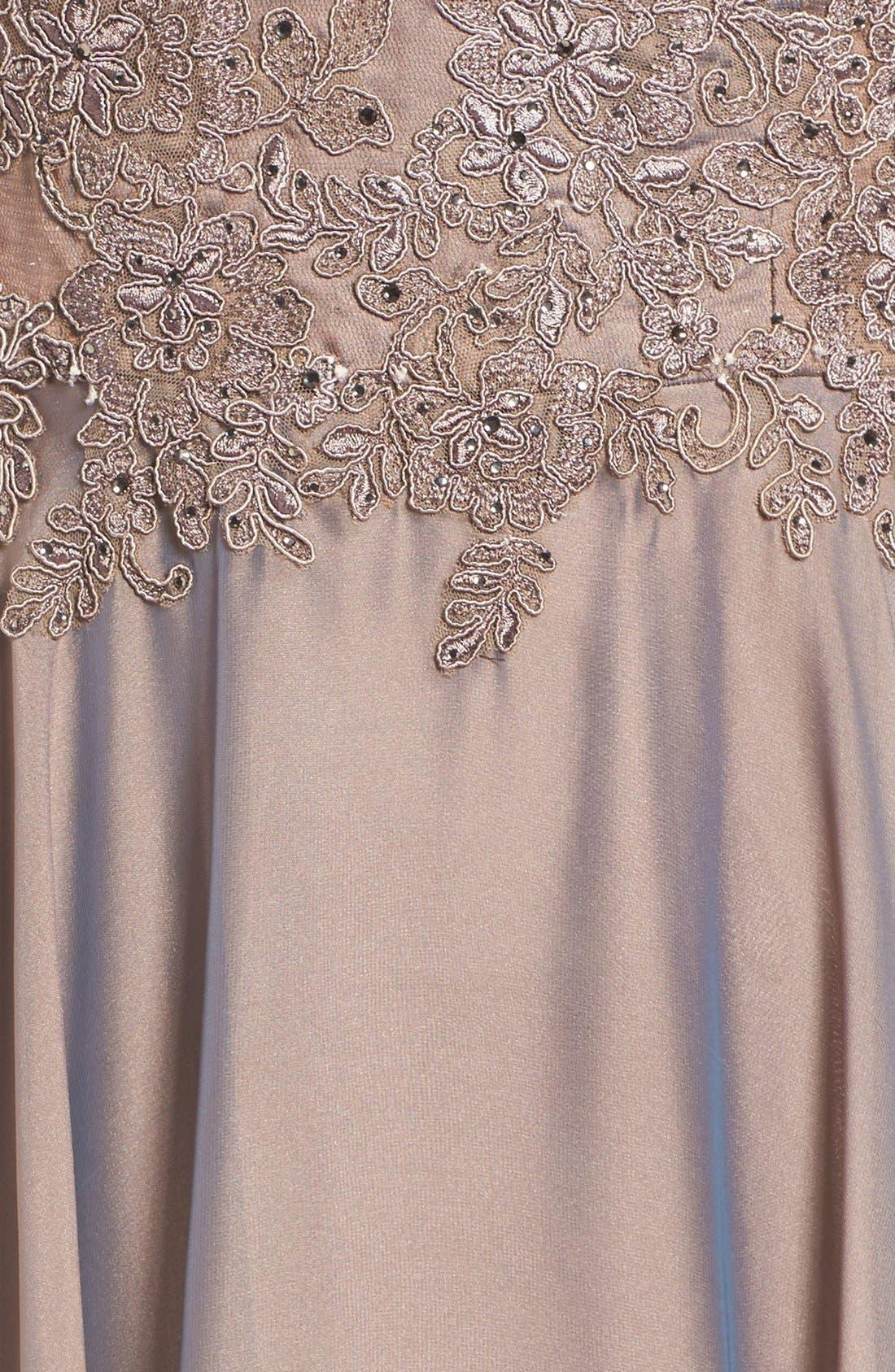 Alternate Image 5  - La Femme Embellished Lace & Satin Ballgown