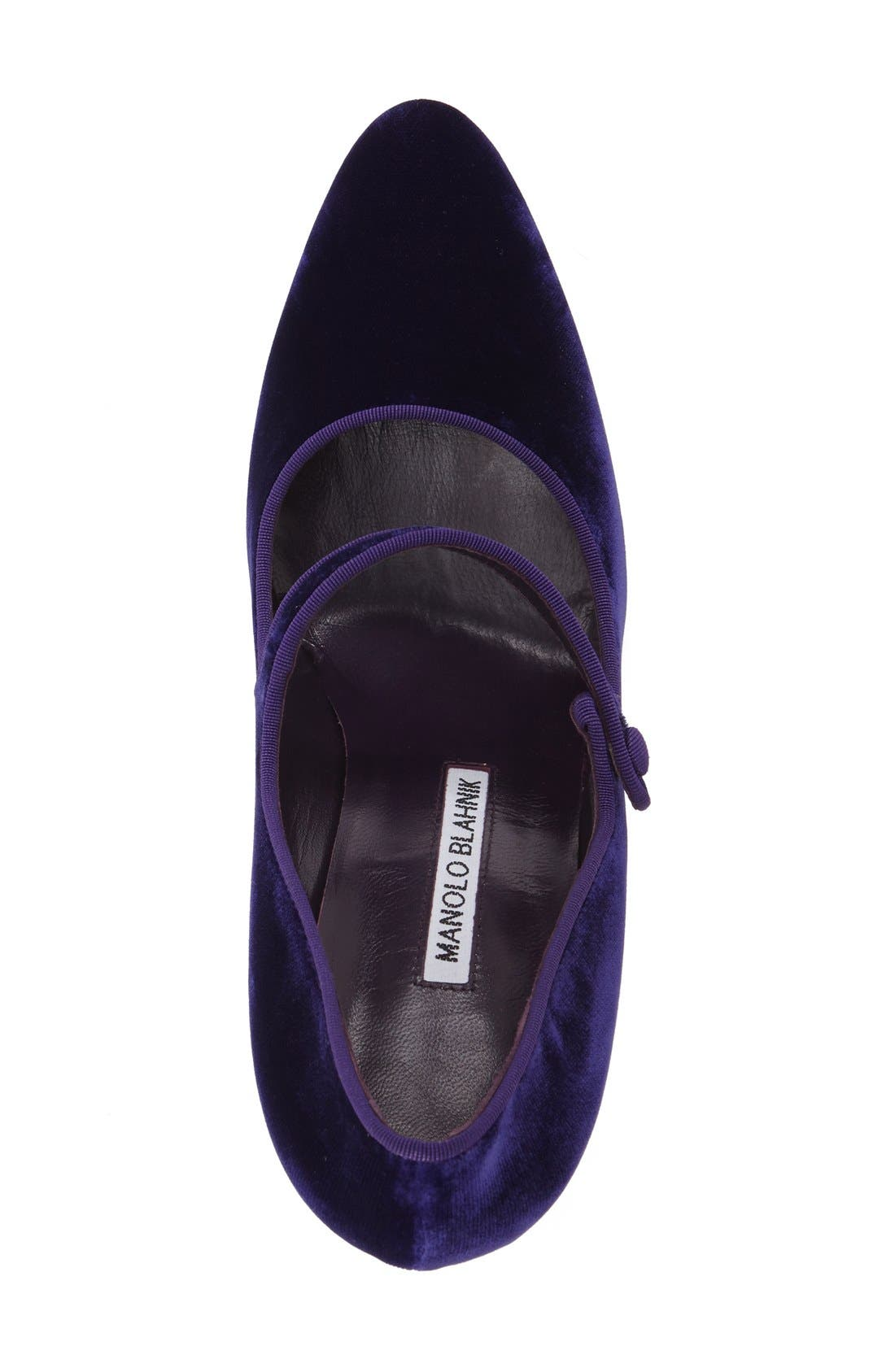 Alternate Image 3  - Manolo Blahnik 'Campy' Velvet Pump (Women) (Nordstrom Exclusive Color)