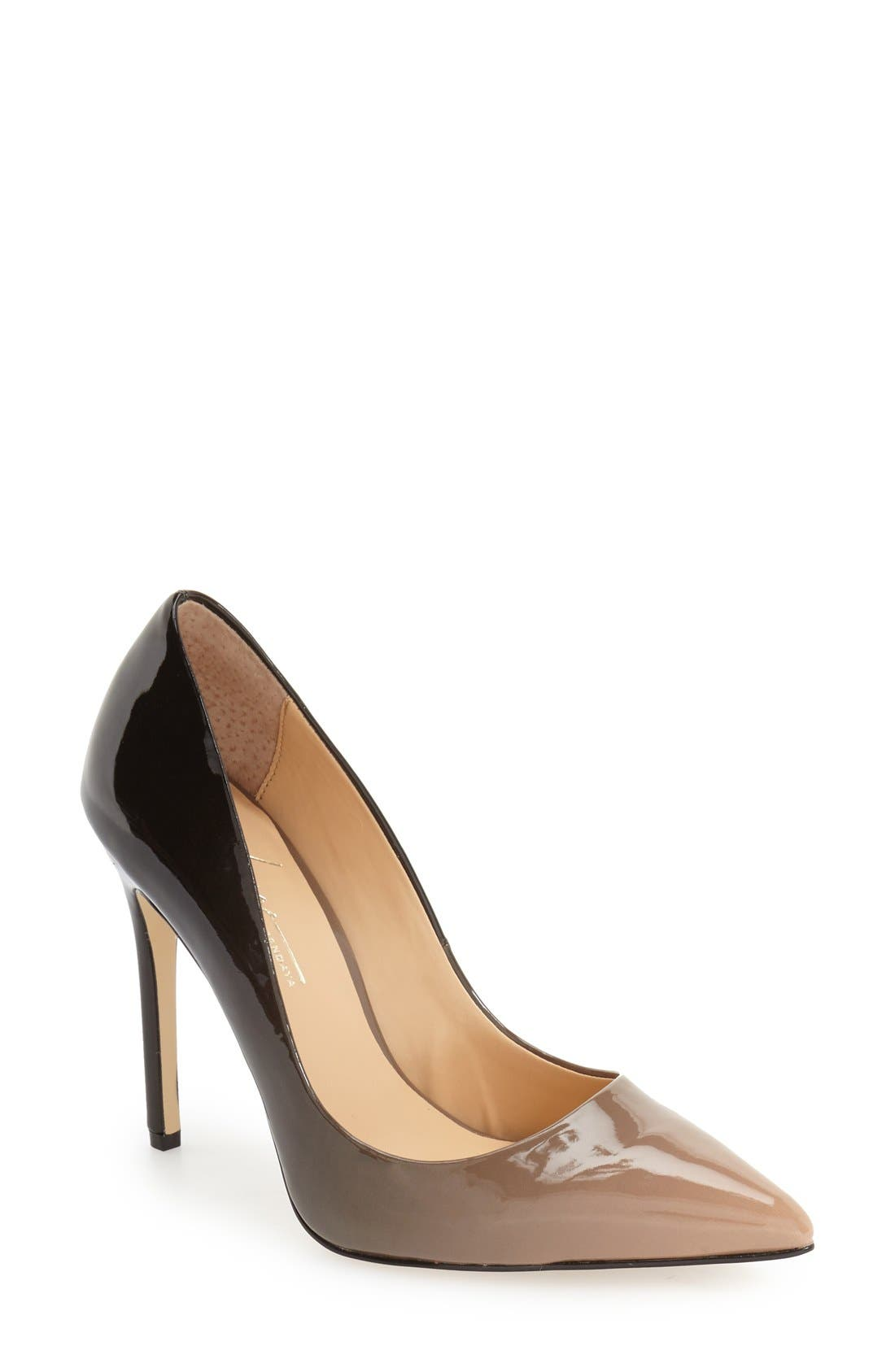 by Zendaya 'Atmore II' Pointy Toe Pump,                         Main,                         color, Black/ Blush Patent