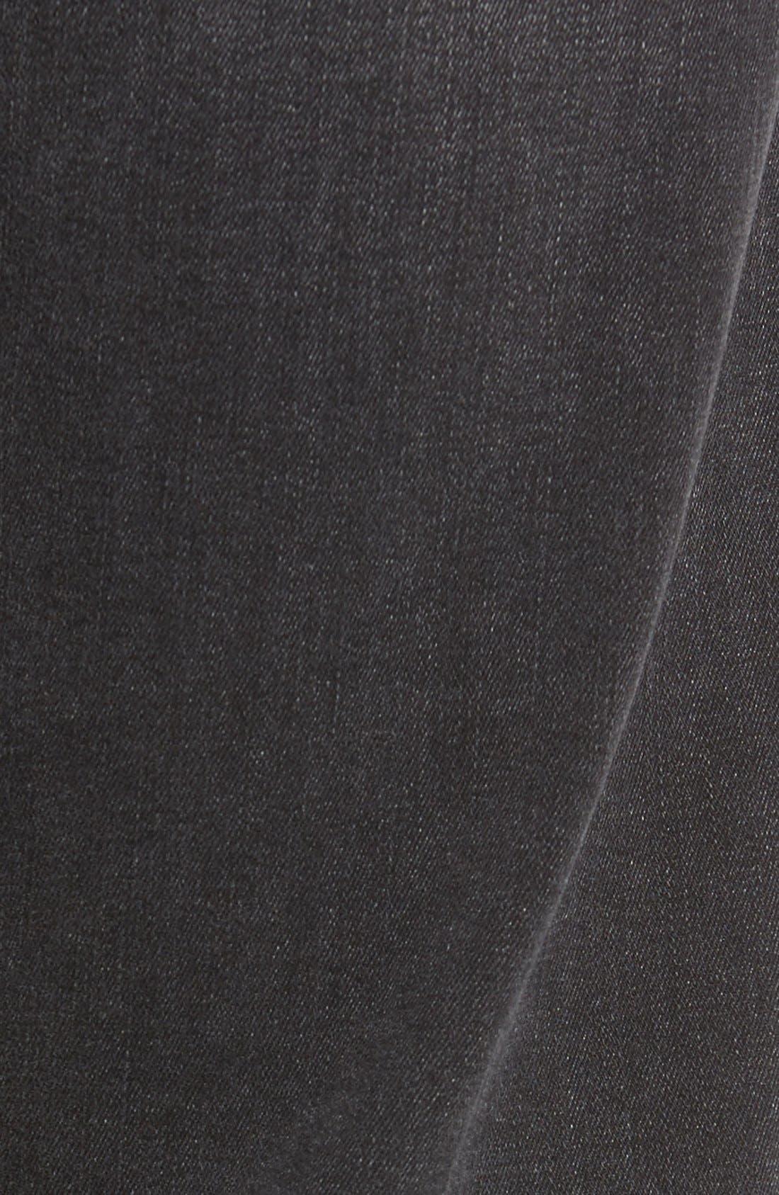 Alternate Image 5  - 34 Heritage 'Courage' Straight Leg Jeans (Coal Soft)