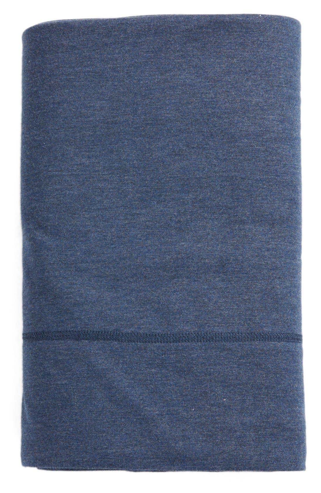 Calvin Klein Modern Cotton Collection Cotton & Modal Flat Sheet,                         Main,                         color, Indigo