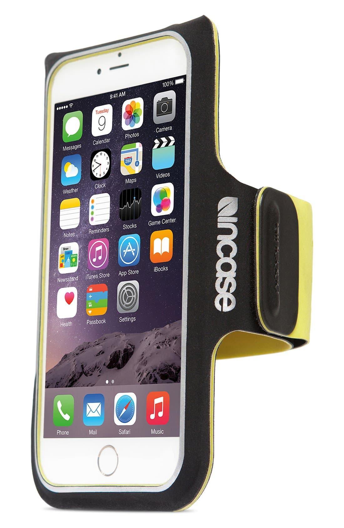 iPhone 6/6s Armband,                             Main thumbnail 1, color,                             Black/ Lumen
