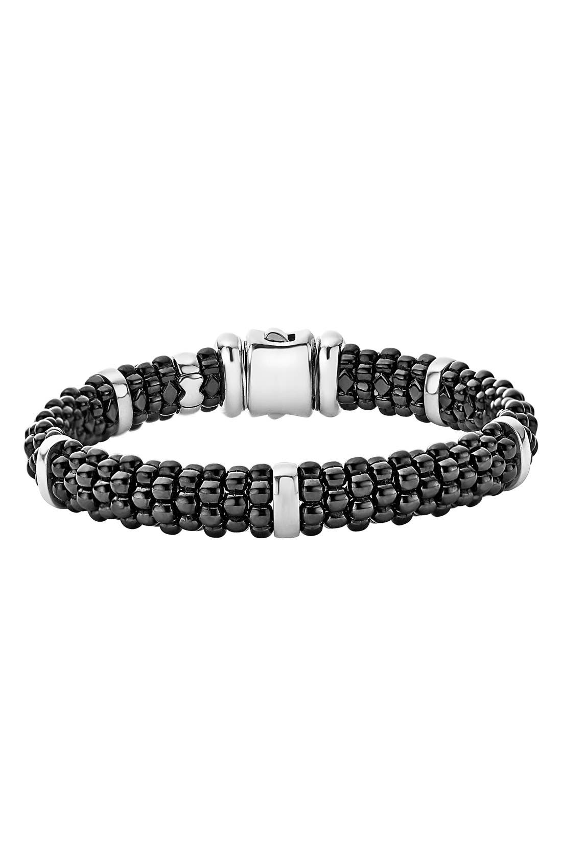 Alternate Image 1 Selected - LAGOS Black Caviar Station Bracelet