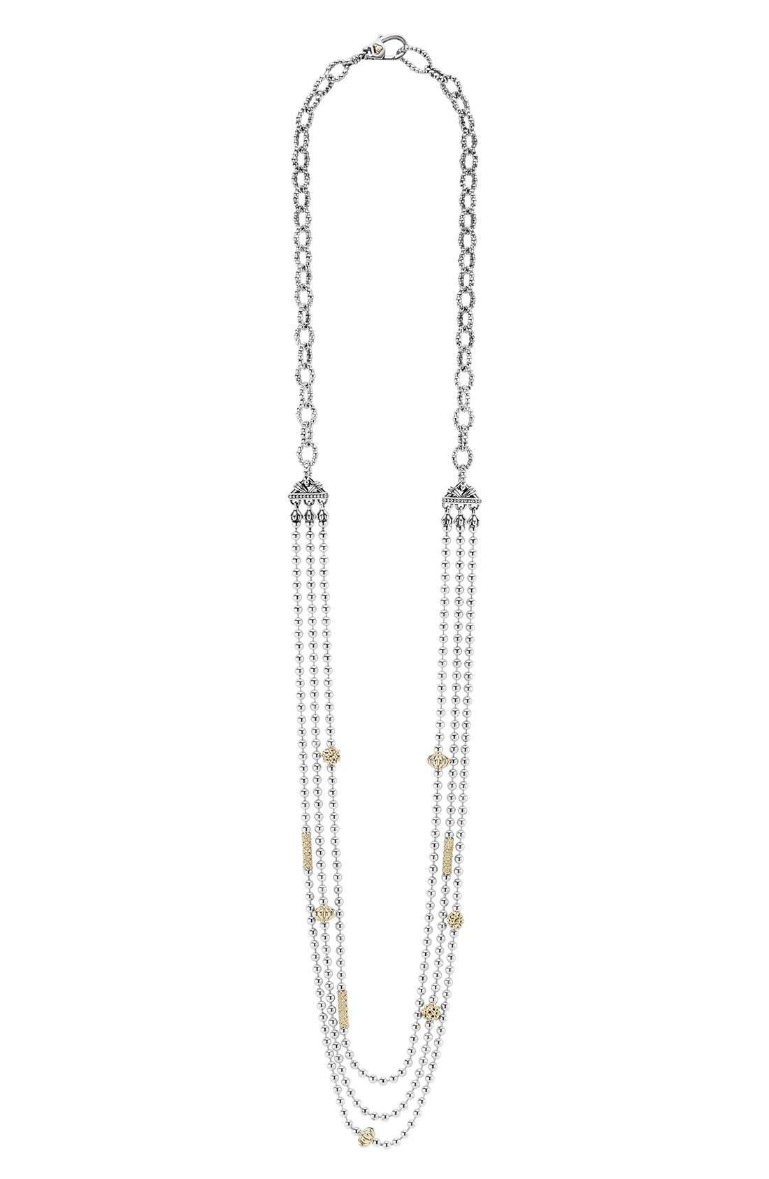 'Caviar Icon' Multistrand Necklace,                             Main thumbnail 1, color,                             Silver/ Gold