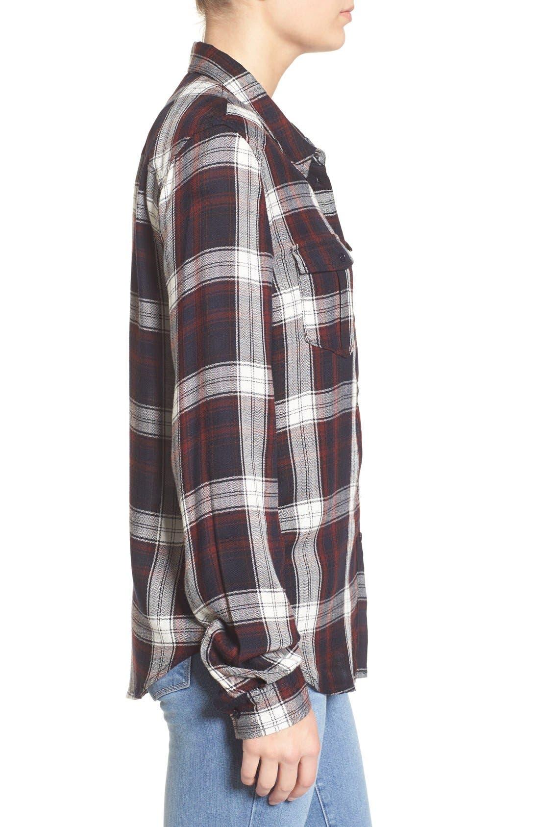 Alternate Image 3  - PAIGE 'Mya' Plaid Shirt