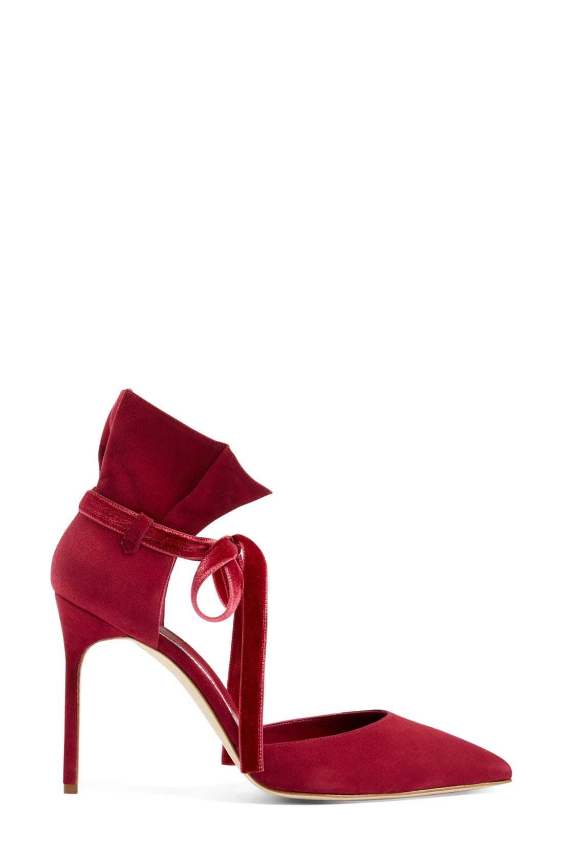 Alternate Image 4  - Manolo Blahnik 'Petaseta' Ankle Tie Pump (Women)
