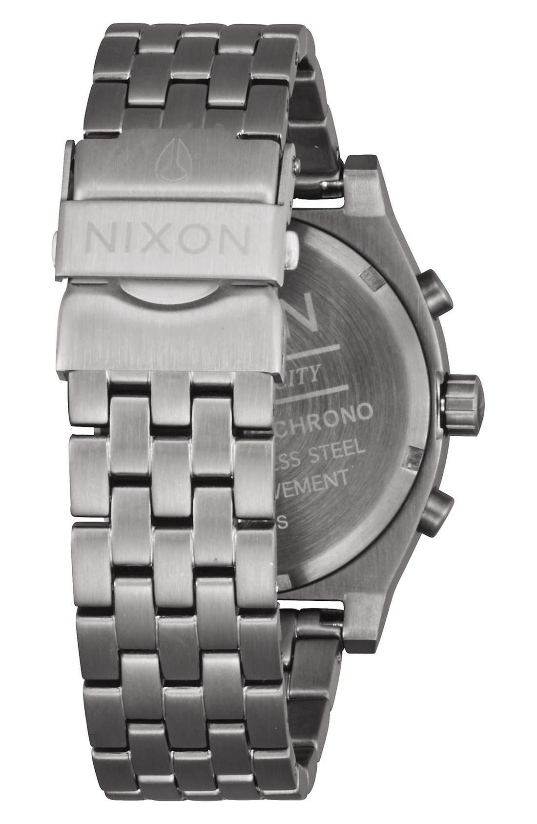 Alternate Image 2  - Nixon 'The Time Teller' Chronograph Bracelet Watch, 39mm