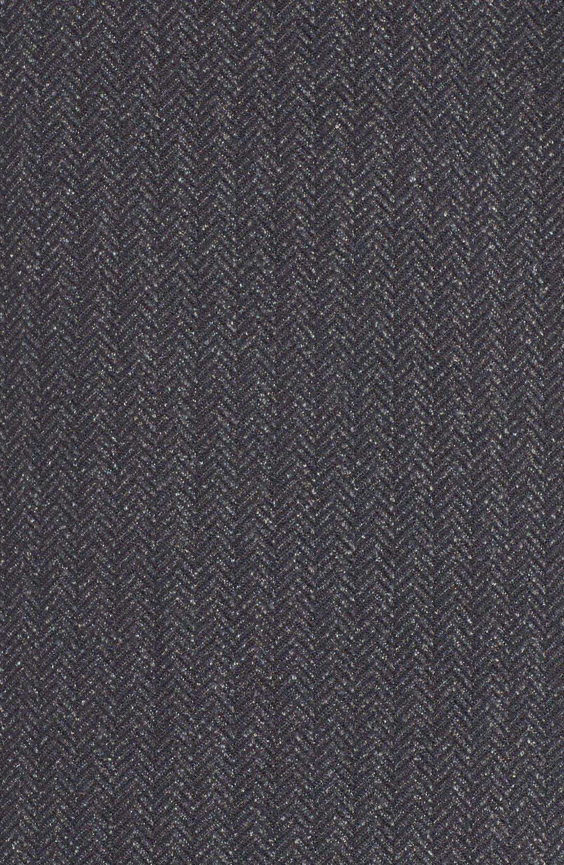 'Heat' Mock Neck Jacket,                             Alternate thumbnail 5, color,                             Black