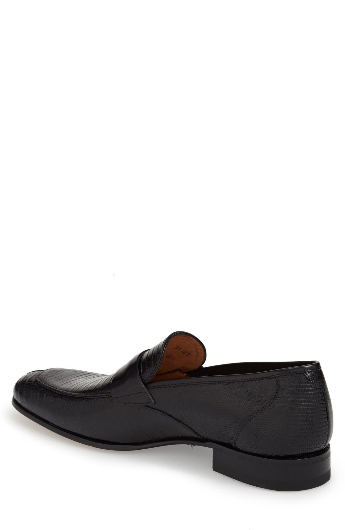Alternate Image 2  - Mezlan 'Lipari' Lizard Leather Penny Loafer (Men)