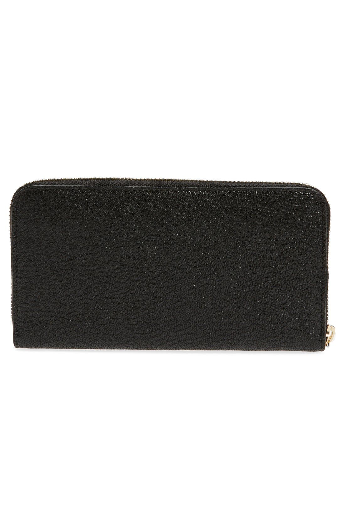 Alternate Image 3  - Chloé 'Drew' Calfskin Leather Zip Around Wallet