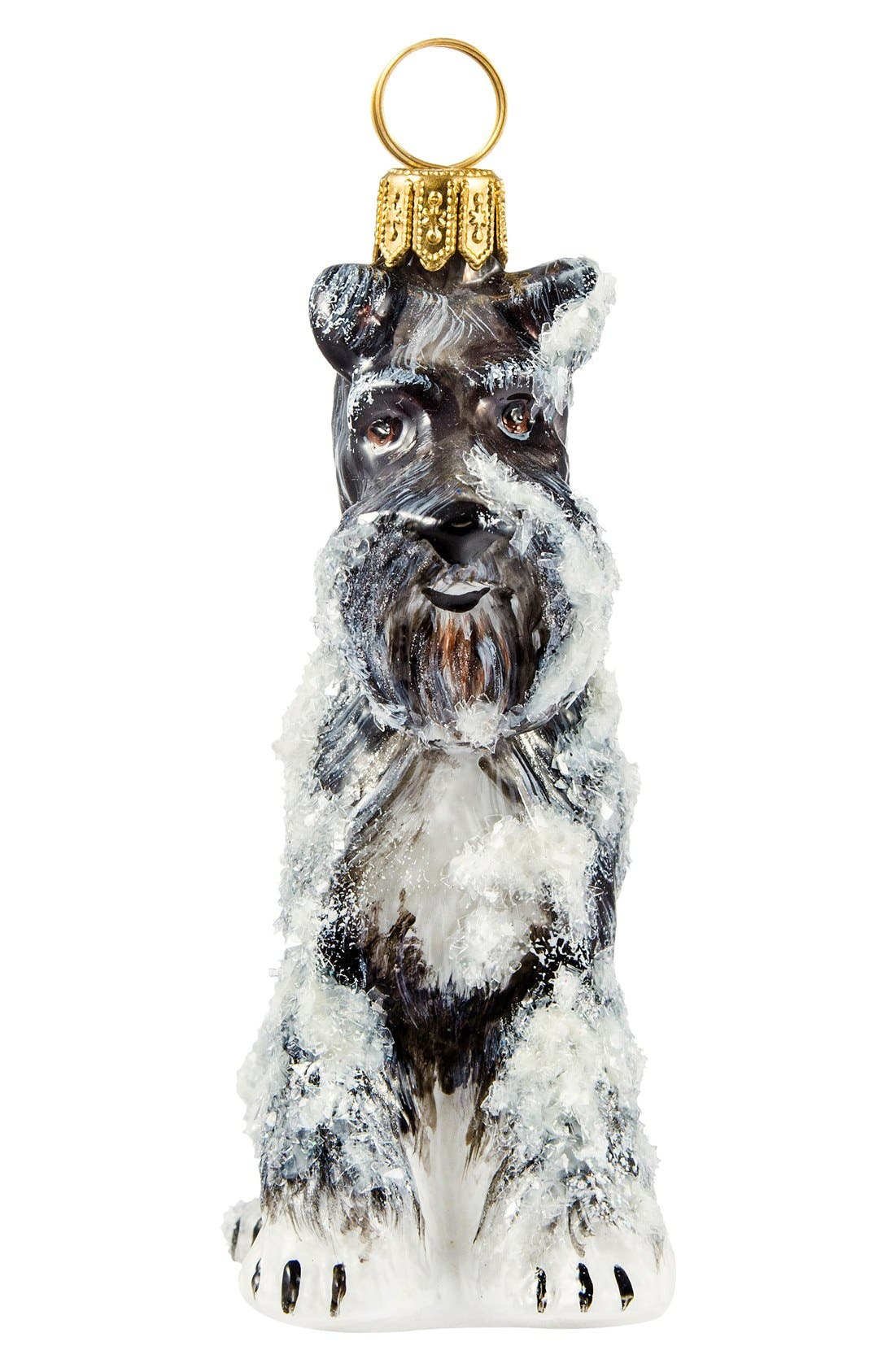 Dog Ornament,                         Main,                         color, Gray Schnauzer