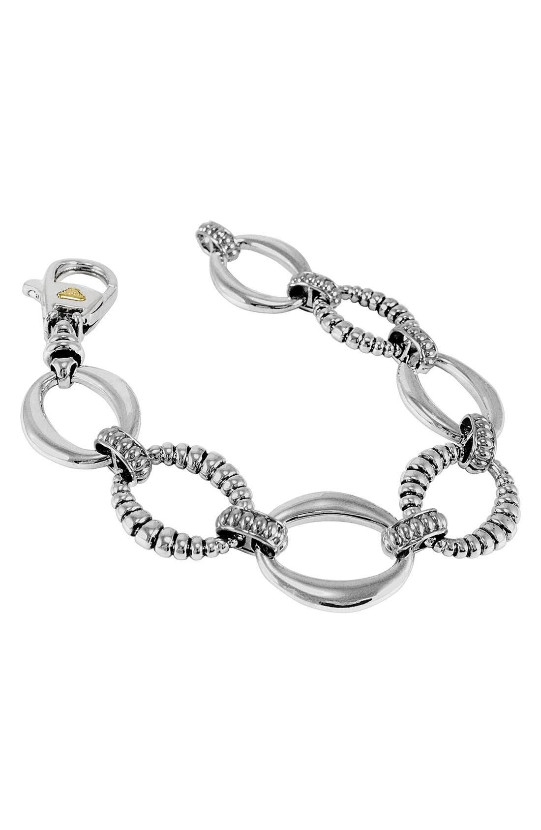 'Link' Sterling Silver Oval Link Bracelet,                         Main,                         color, Sterling Silver