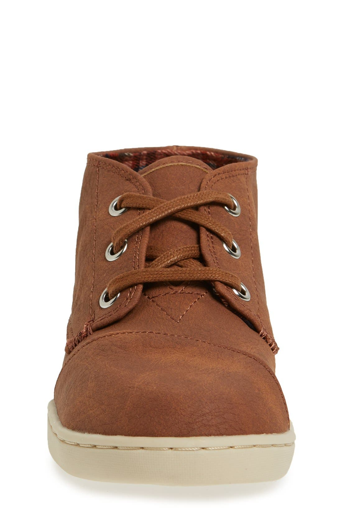 'Paseo - Youth' Mid Boot,                             Alternate thumbnail 3, color,                             Brown Faux Leather