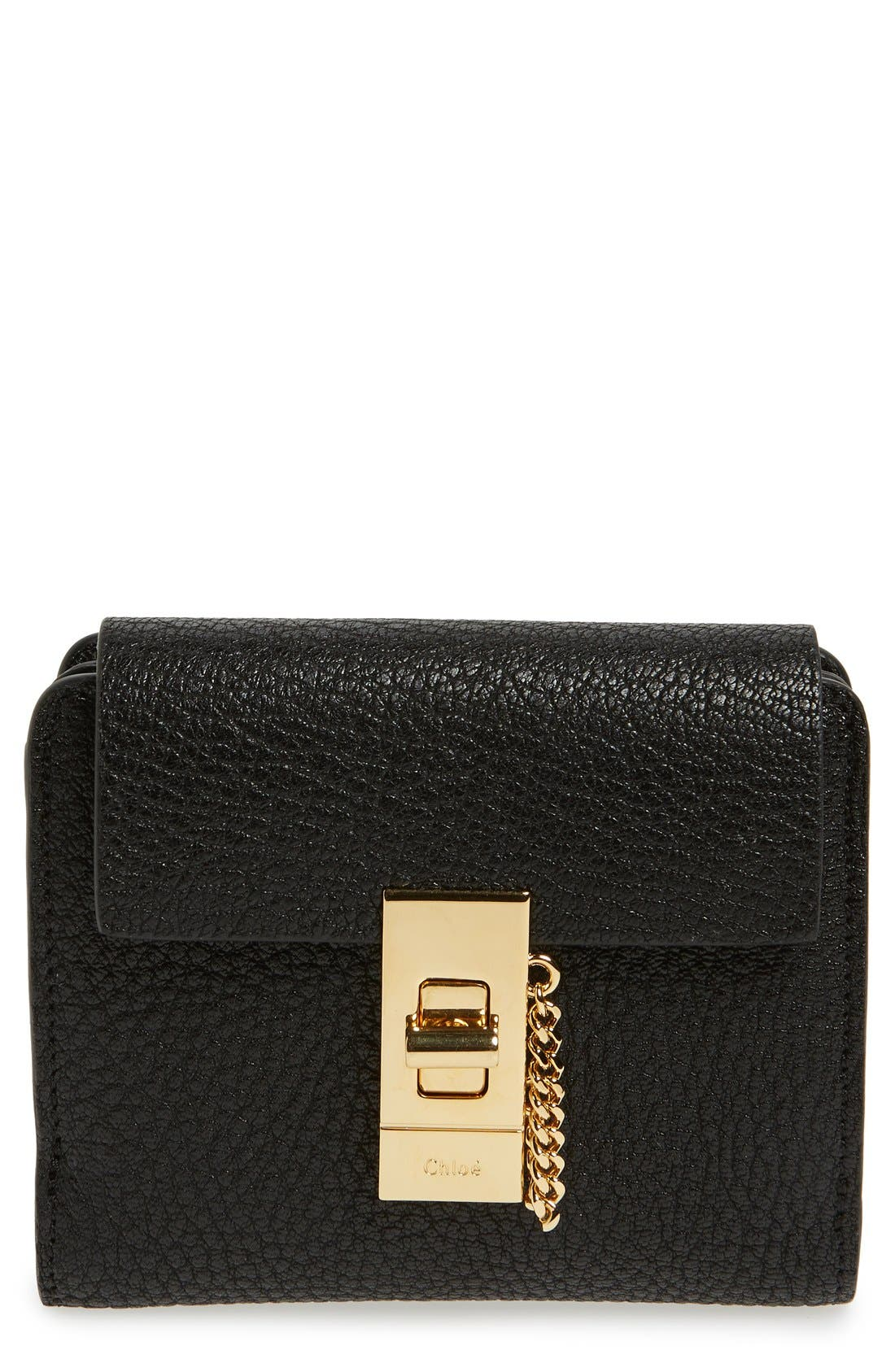 CHLOÉ Drew Calfskin Leather Square Wallet