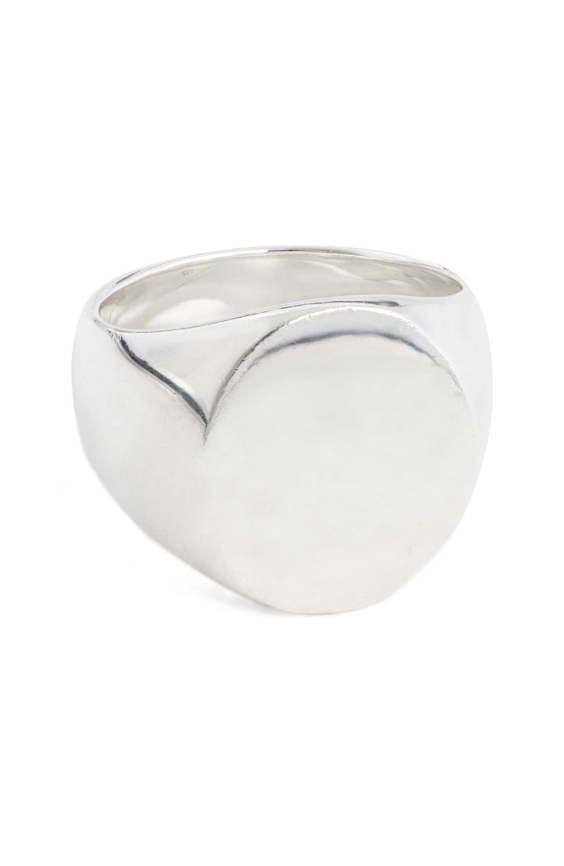 Alternate Image 1 Selected - Tom Wood 'Patriot Collection' Oval Signet Ring