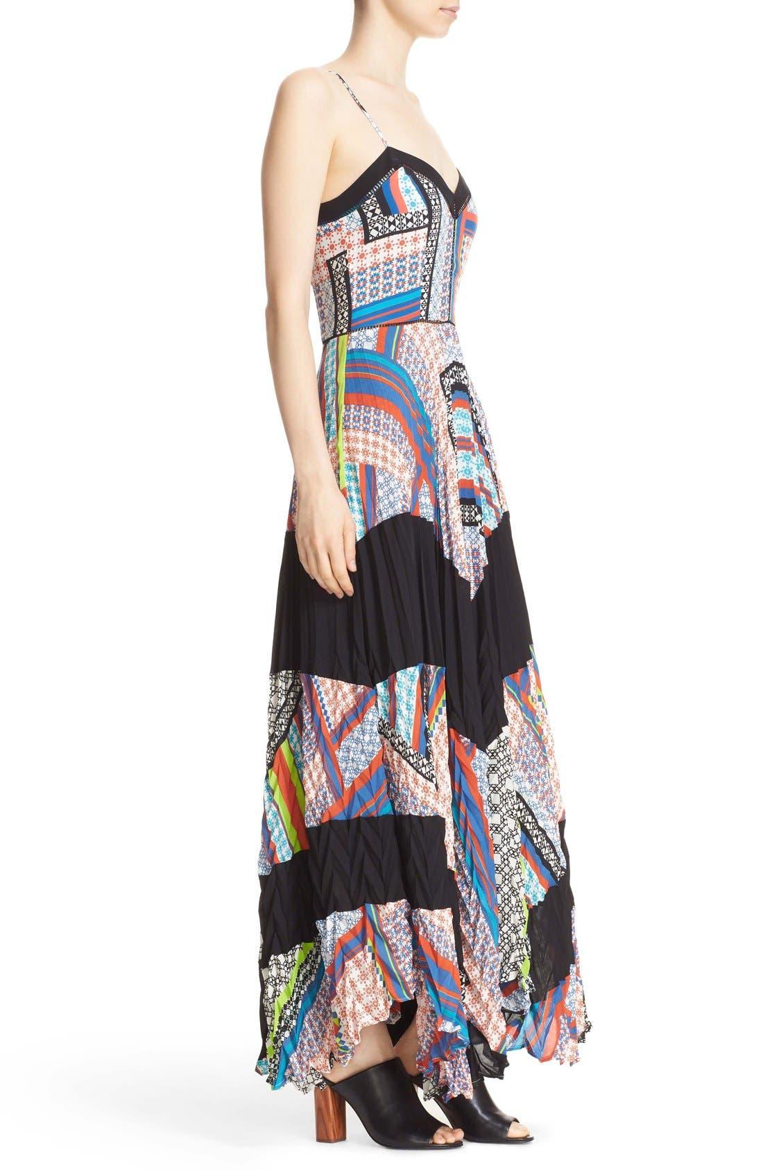 Alternate Image 3  - Parker 'Skye' Mixed Print Silk Maxi Dress