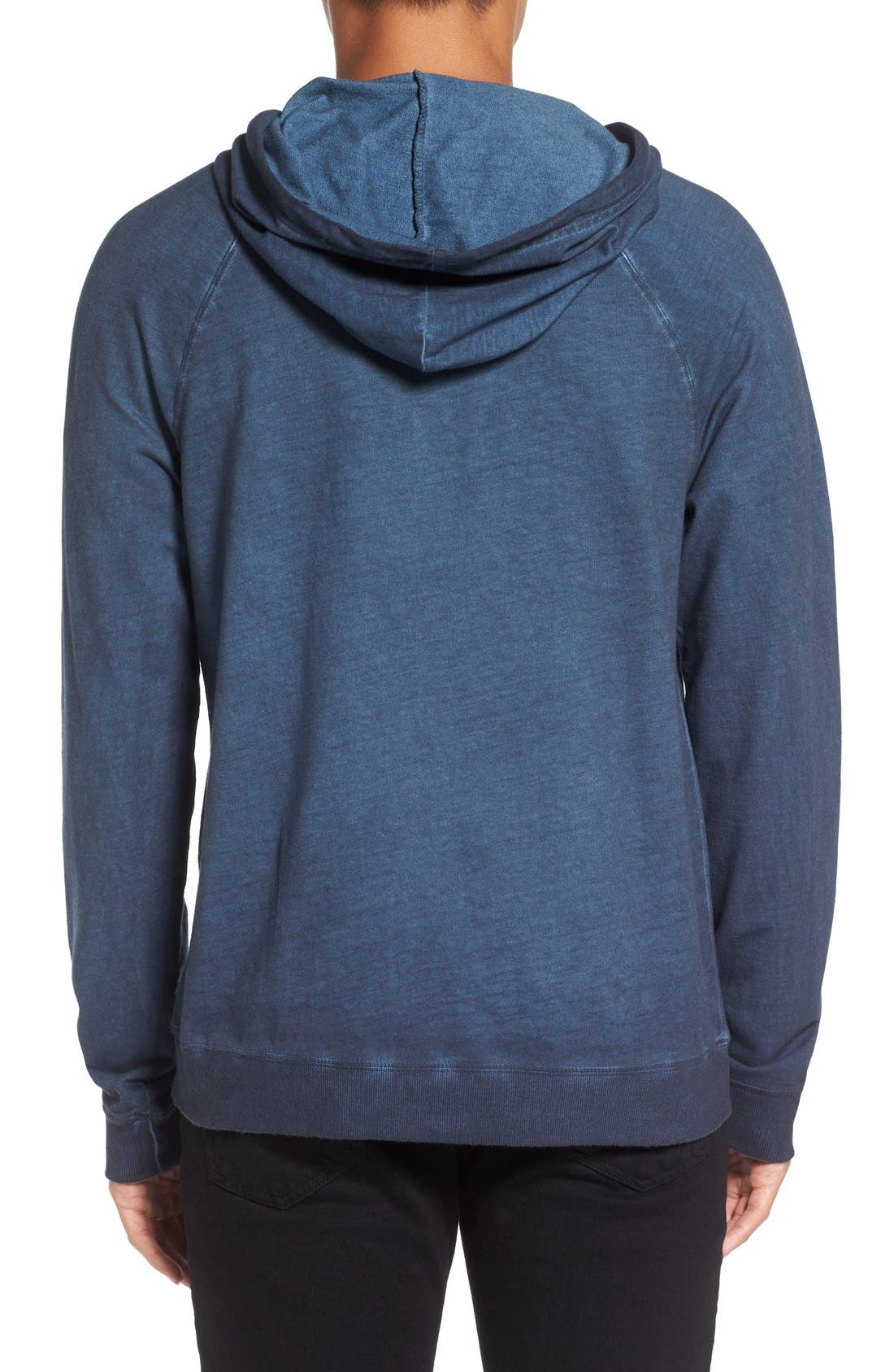 Faded Henley Hoodie,                             Alternate thumbnail 2, color,                             Navy