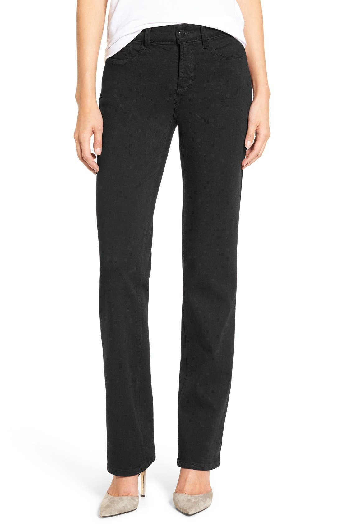 NYDJ Marilyn Stretch Twill Straight Leg Pants (Regular & Petite)