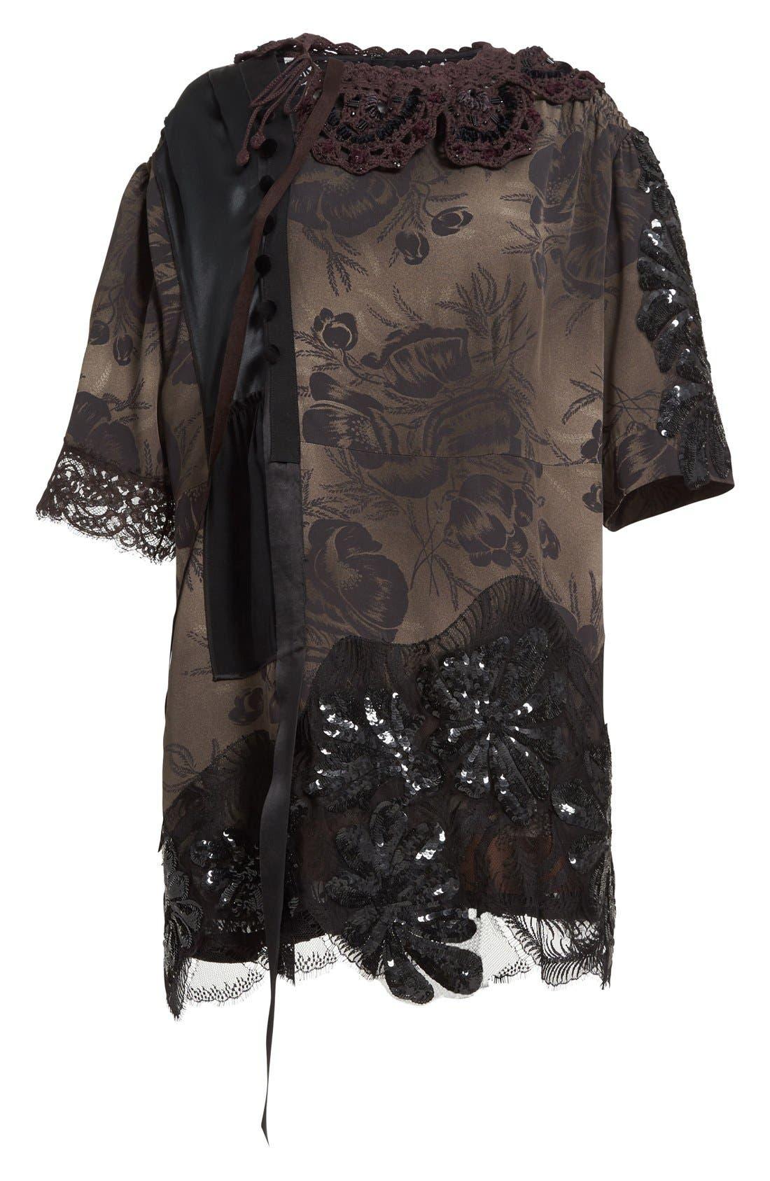 Alternate Image 4  - MARC JACOBS 'Shadow Tulip' Embellished Shift Dress