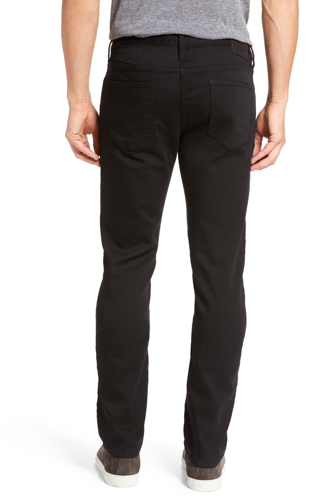 'Bowery' Slim Straight Leg Jeans,                             Alternate thumbnail 2, color,                             Black