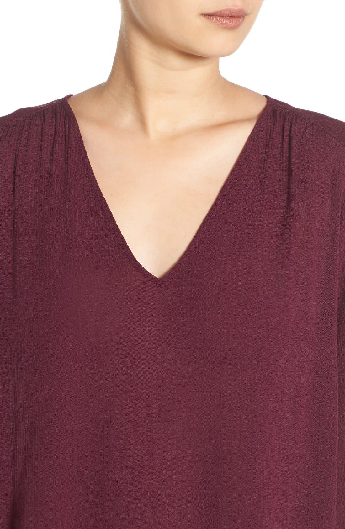 Alternate Image 4  - Lush 'Whitney' Bell Sleeve Woven Shift Dress