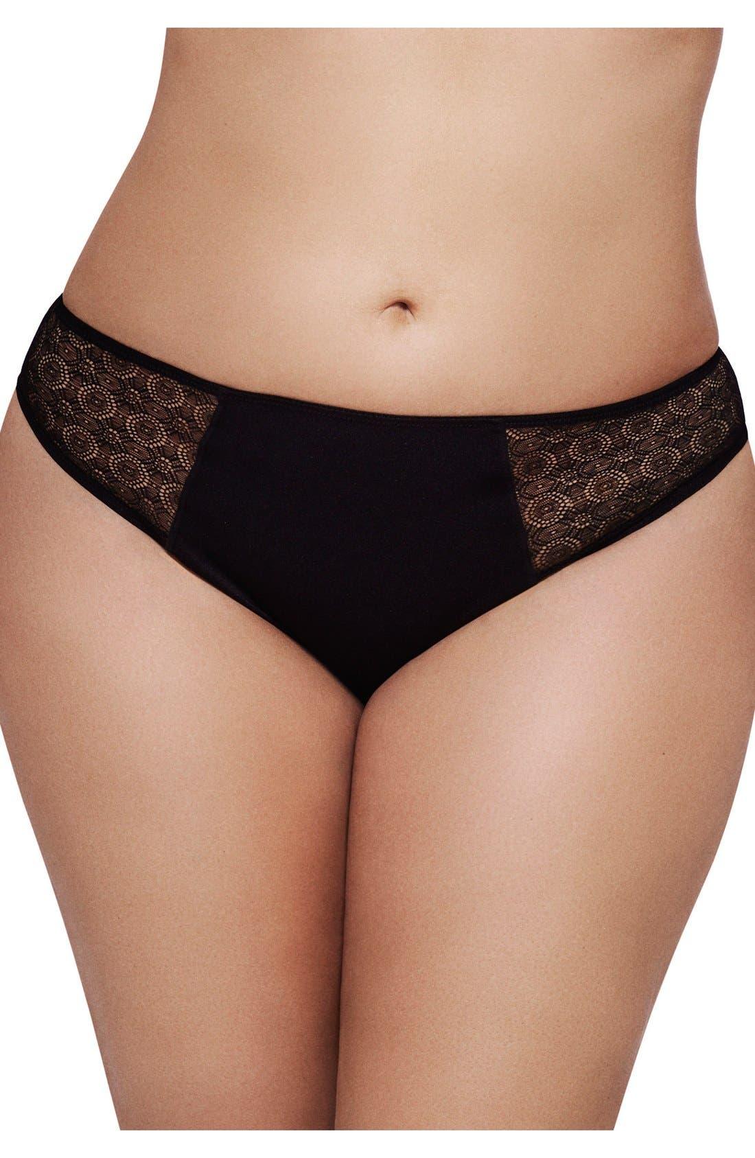 Ashley Graham Lace Sides Thong