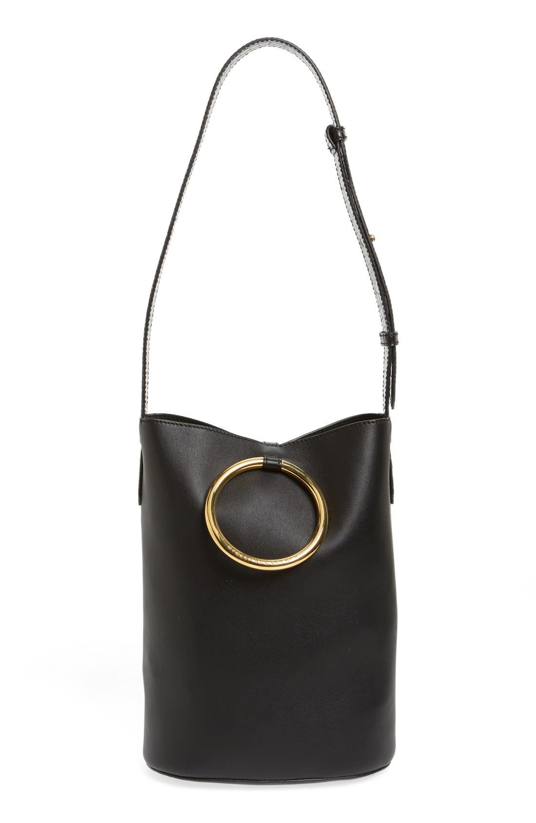 Main Image - Stella McCartney 'Medium Ring' Faux Nappa Leather Bucket Bag