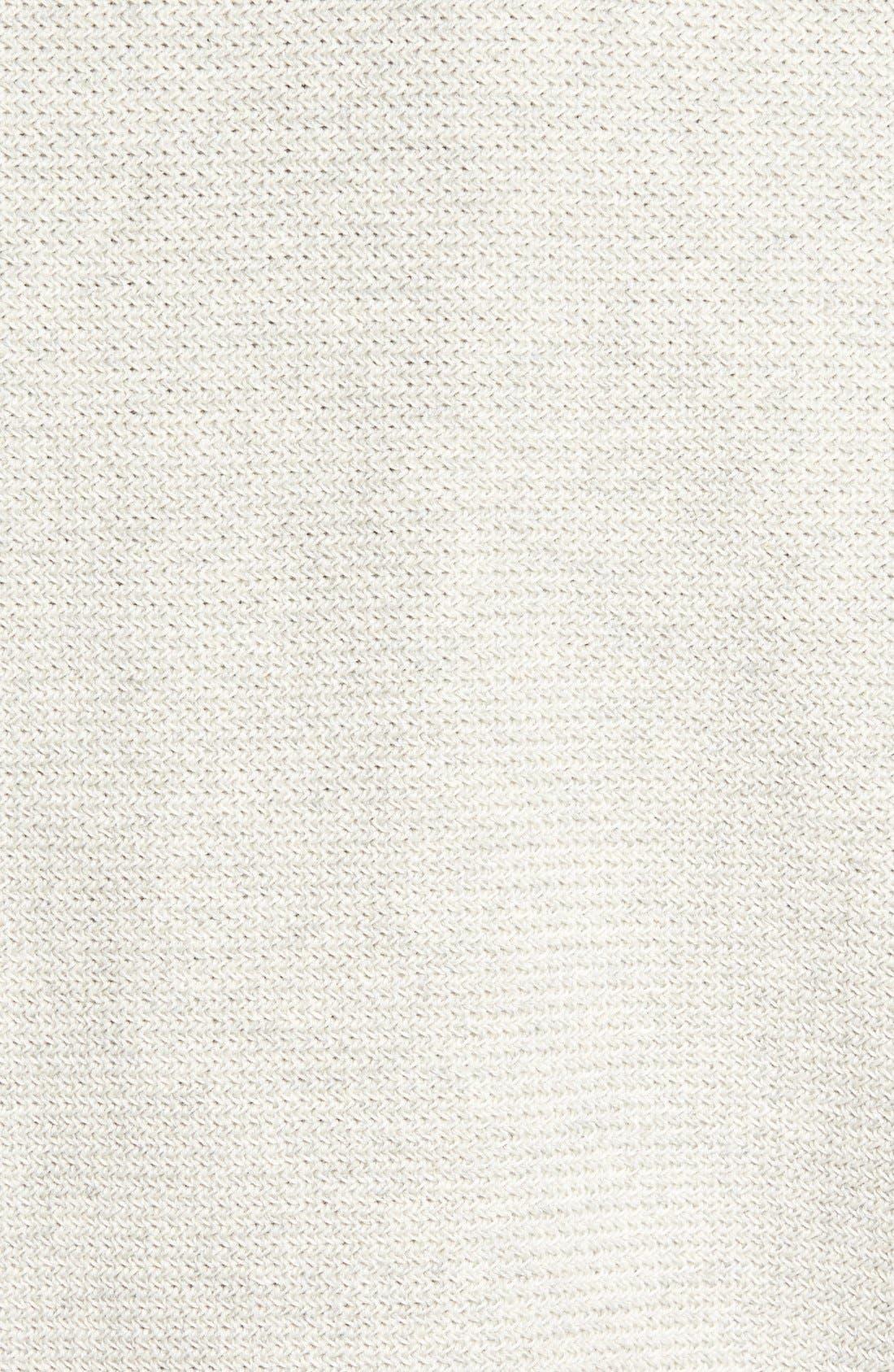 'Benson' Quarter Zip Textured Knit Sweater,                             Alternate thumbnail 5, color,                             Limestone Heather