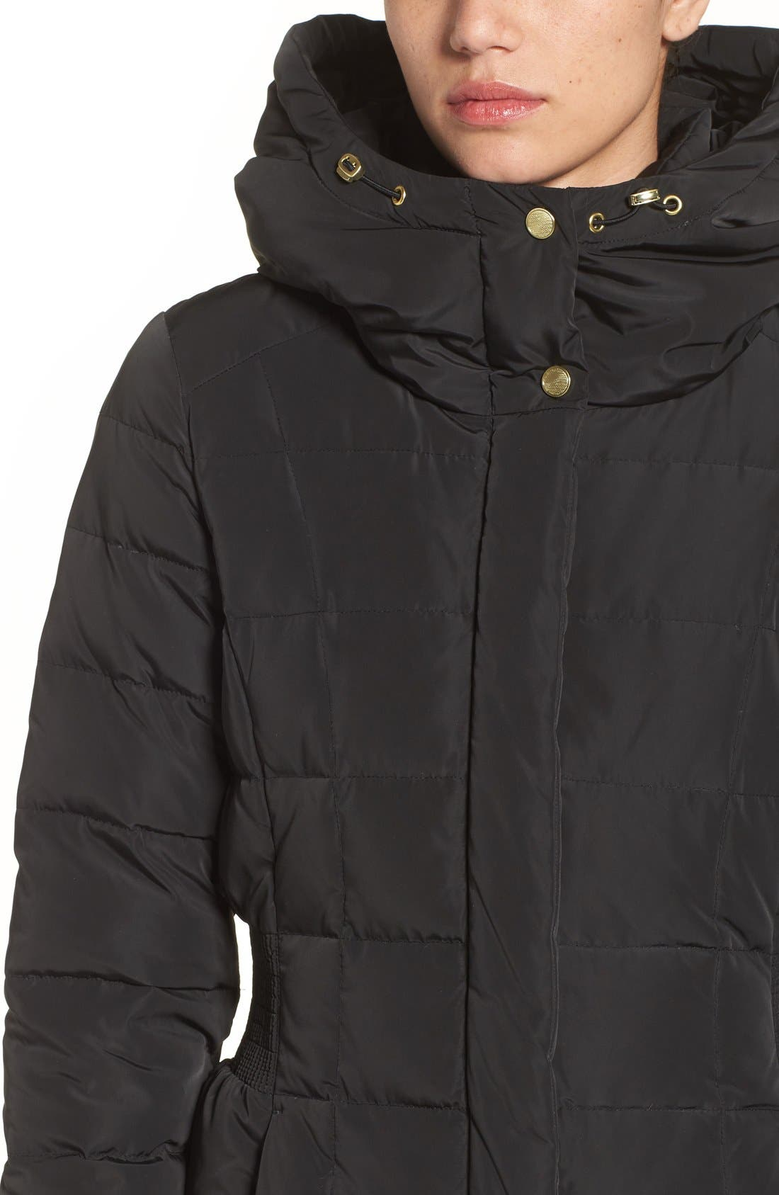 Alternate Image 4  - Cole Haan Quilted Coat with Inner Bib
