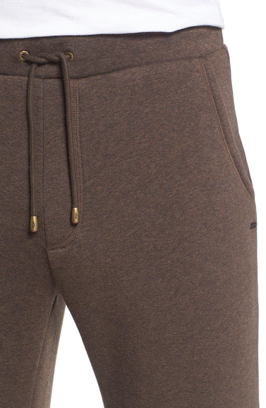 'Colton' Lounge Pants,                             Alternate thumbnail 4, color,                             Stout Heather