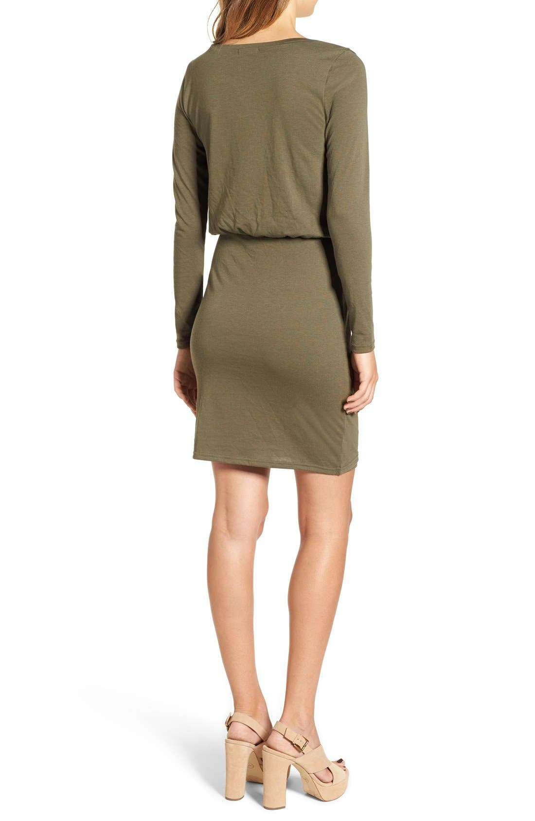 Blouson Body-Con Dress,                             Alternate thumbnail 2, color,                             Olive Sarma