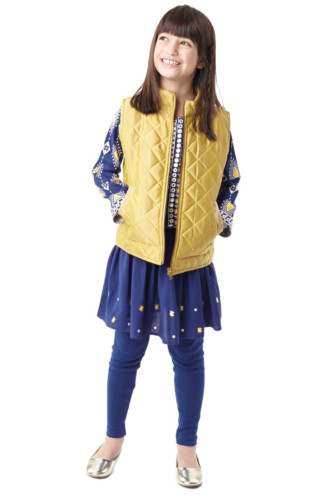 Alternate Image 3  - Masalababy 'Estelle' Quilted Vest (Toddler Girls, Little Girls & Big Girls)