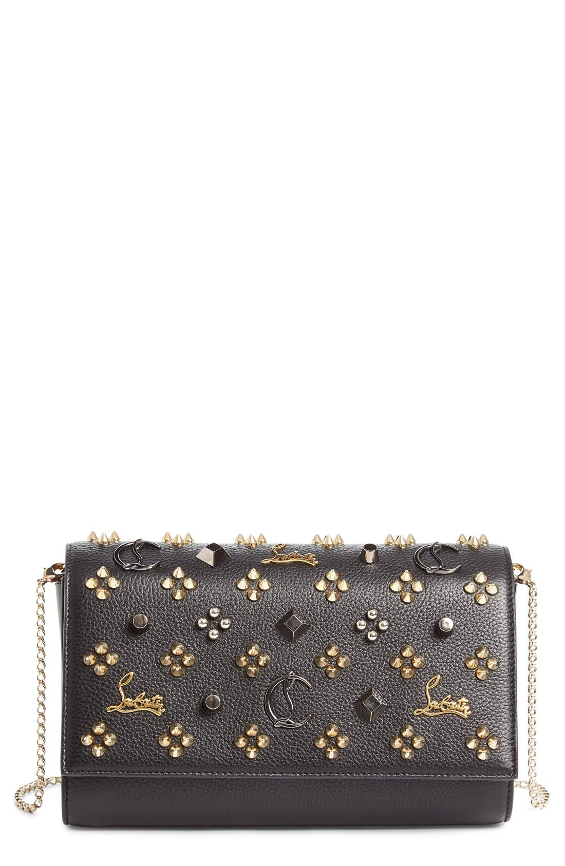 Alternate Image 1 Selected - Christian Louboutin Paloma Empire Calfskin Clutch