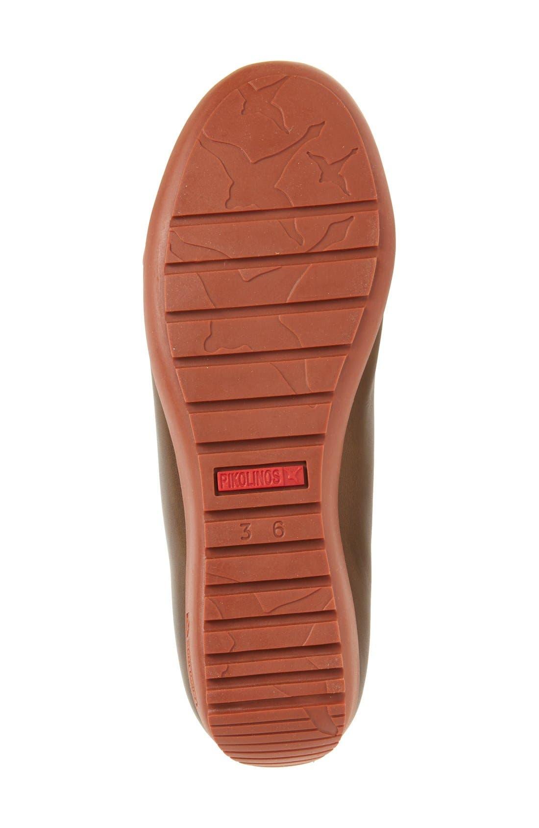 Lisboa High Top Sneaker,                             Alternate thumbnail 4, color,                             Moss Leather