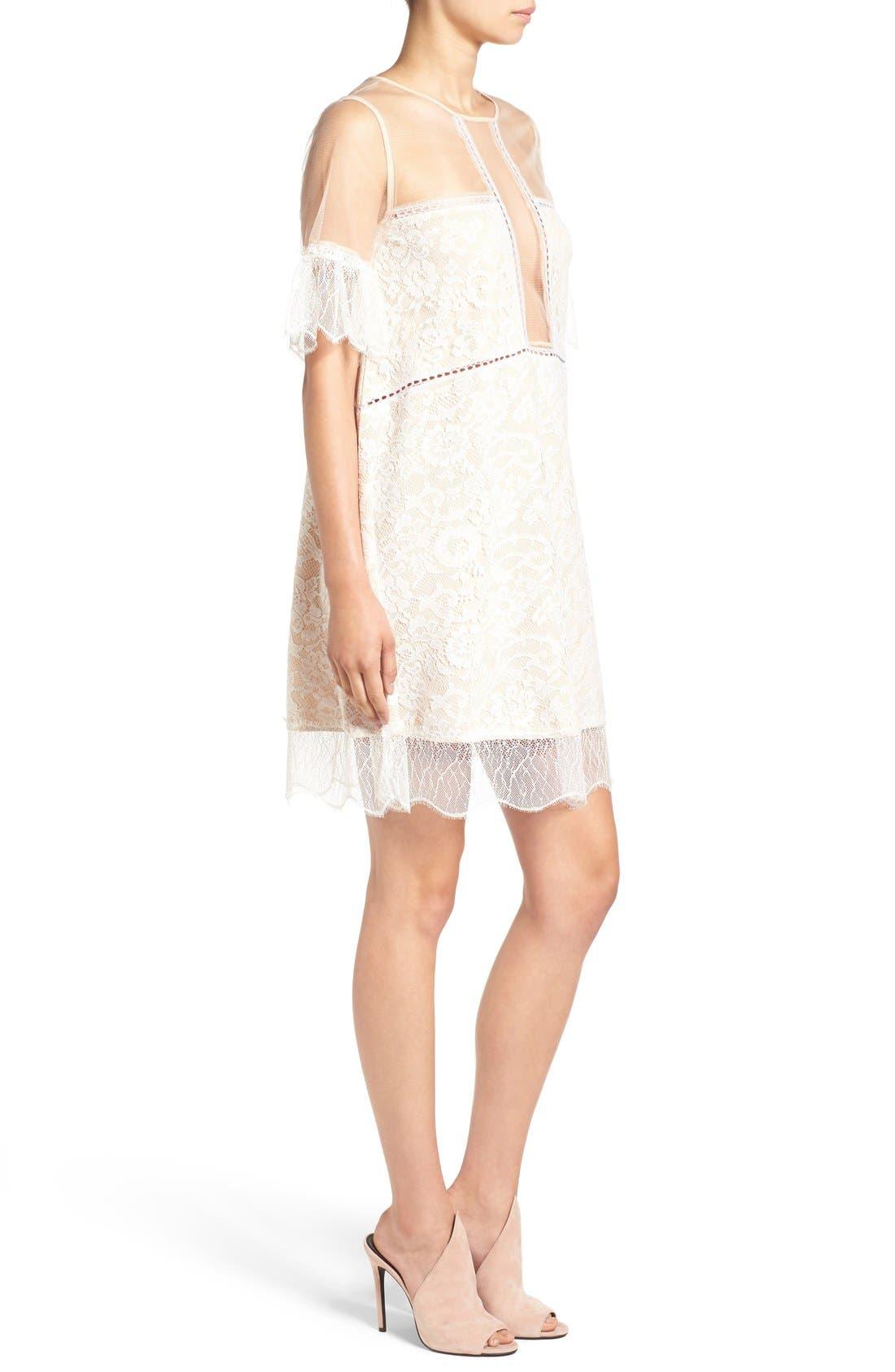 Alternate Image 3  - KENDALL + KYLIE Lace Panel Trapeze Dress