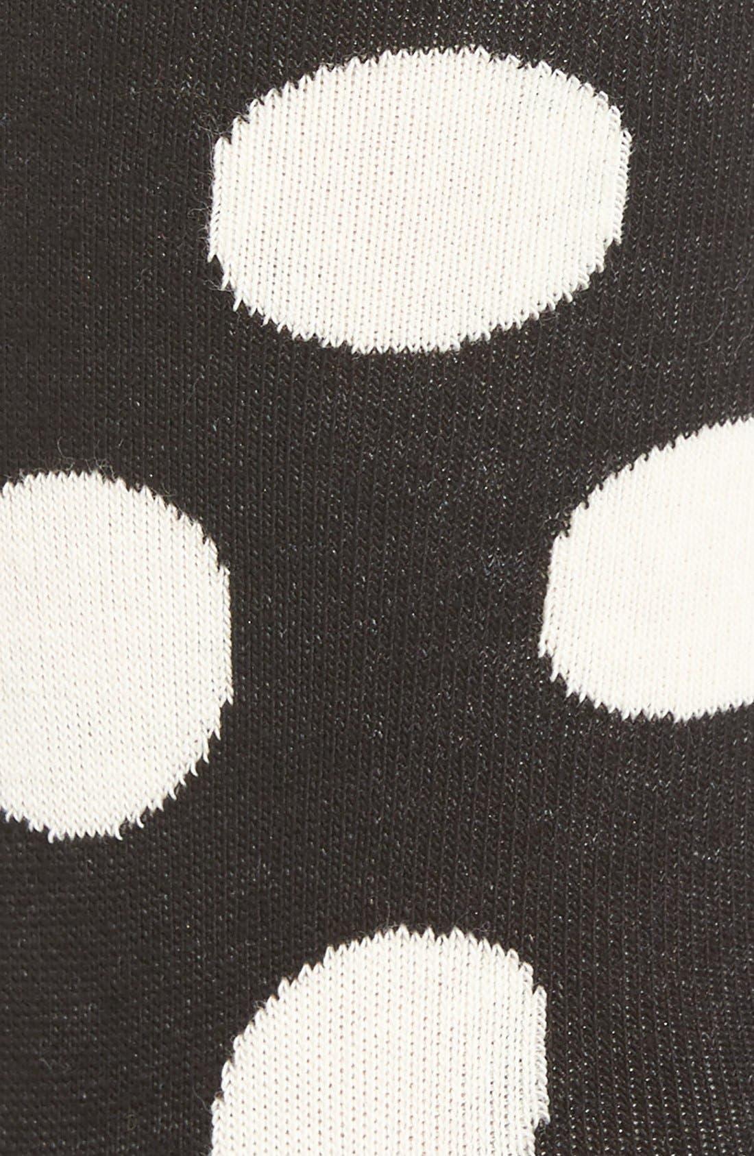 'Big Dot' Crew Socks,                             Alternate thumbnail 2, color,                             Black