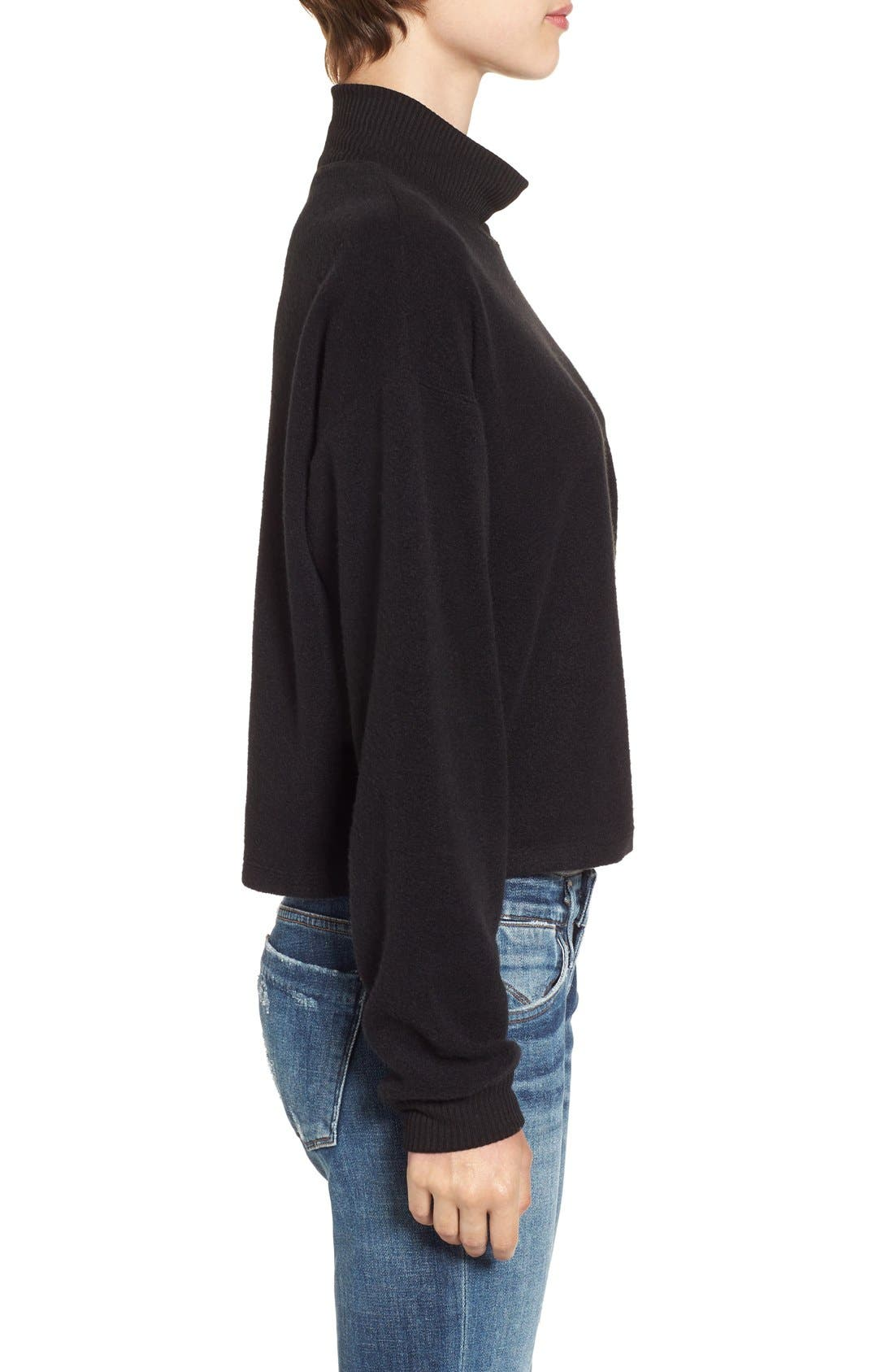 Alternate Image 3  - Chloe & Katie Patch Mock Neck Sweatshirt