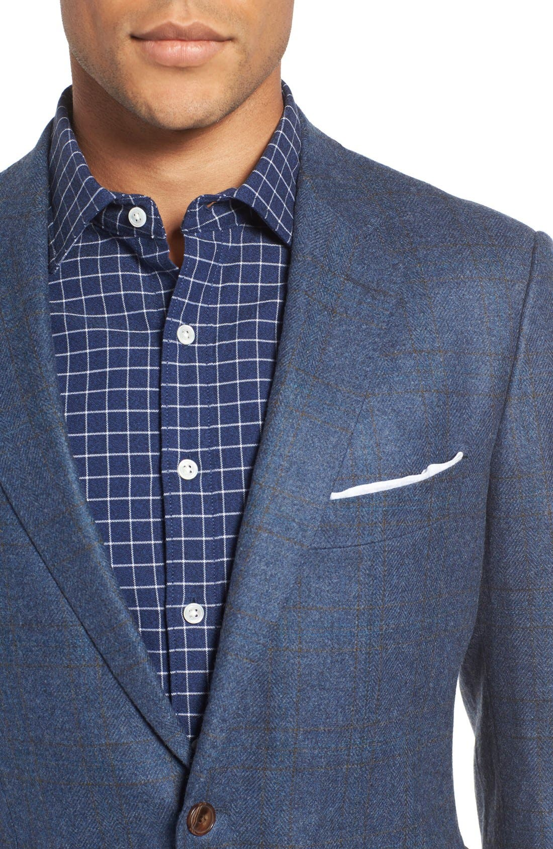 Alternate Image 4  - Rodd & Gunn 'Clareinch' Herringbone Plaid Sport Coat