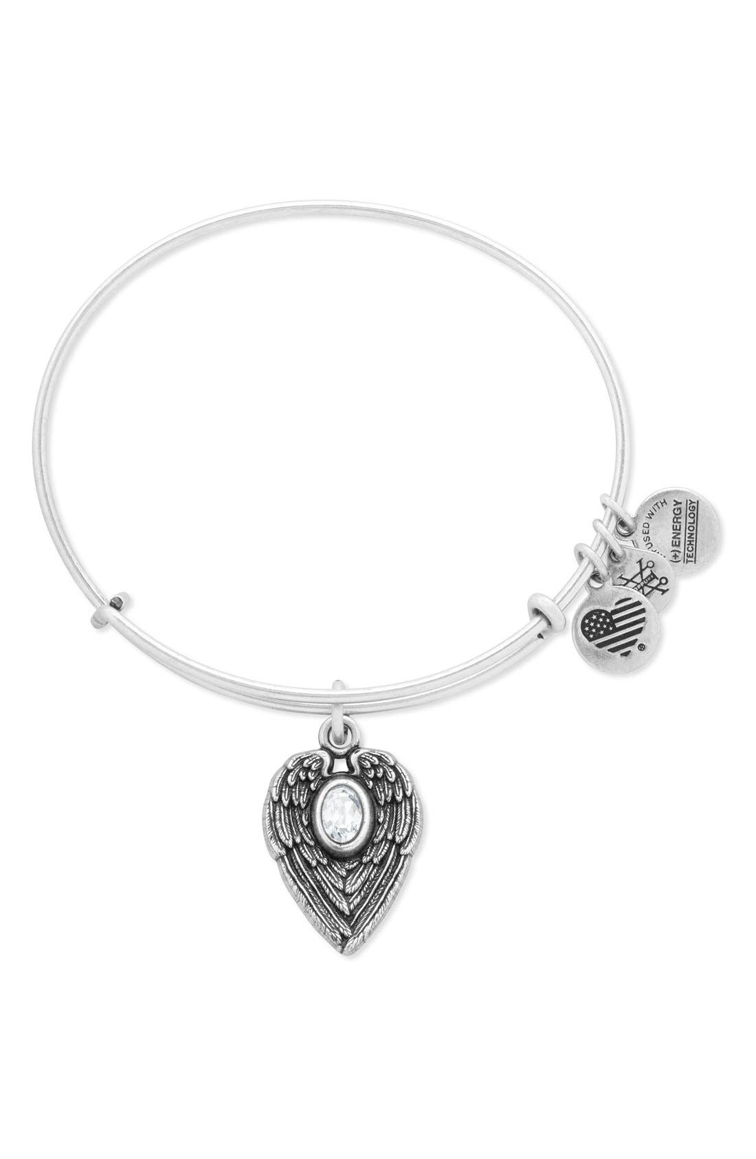 Alternate Image 1 Selected - Alex and Ani 'Guardian Angel' Adjustable Wire Bangle