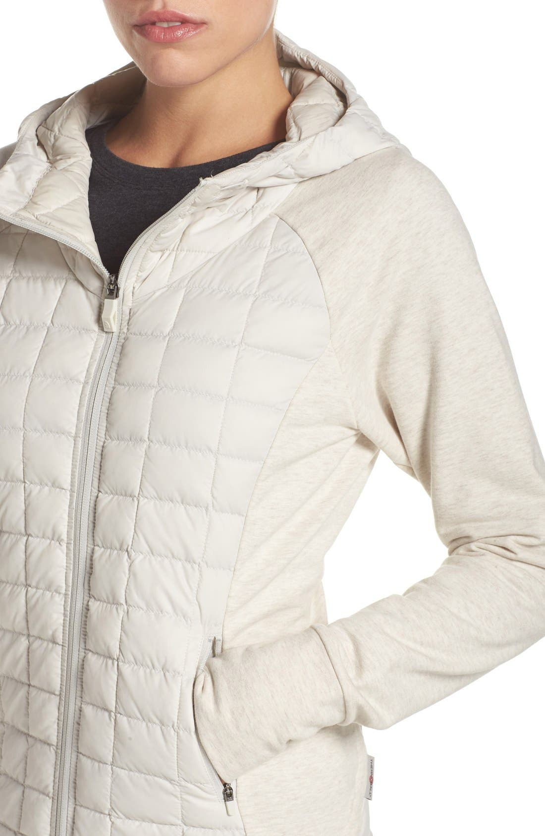 'Endeavor' ThermoBall PrimaLoft<sup>®</sup> Quilted Jacket,                             Alternate thumbnail 4, color,                             Moonlight Ivory/ Ivory White